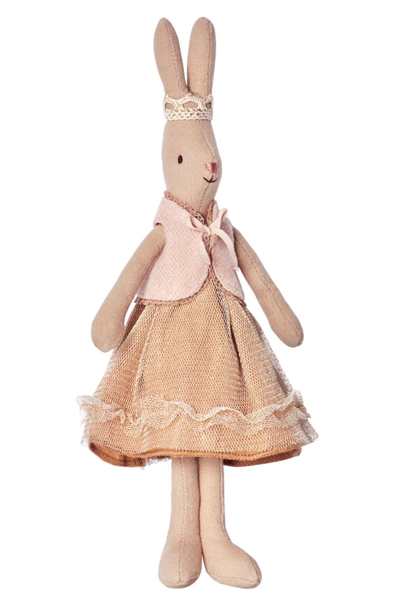 Mini Princess Flippa Stuffed Toy Bunny,                         Main,                         color, Beige