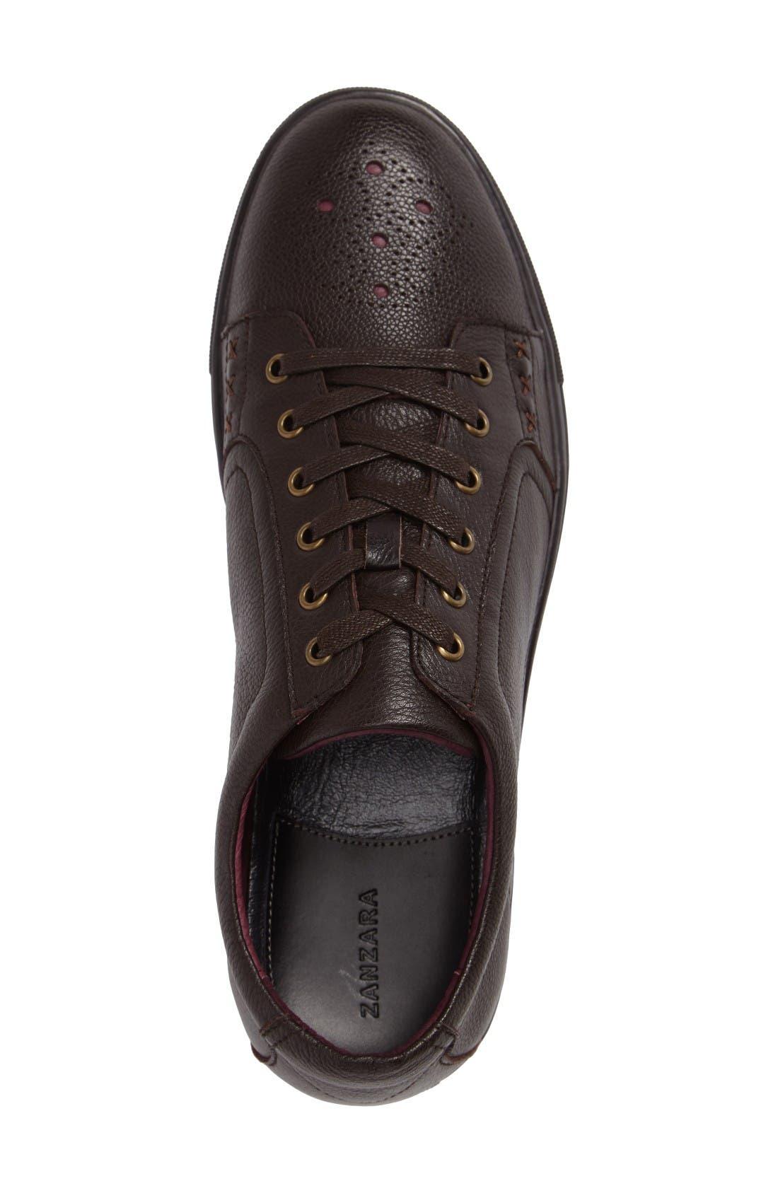 'Drum' Lace-Up Sneaker,                             Alternate thumbnail 3, color,                             Cognac