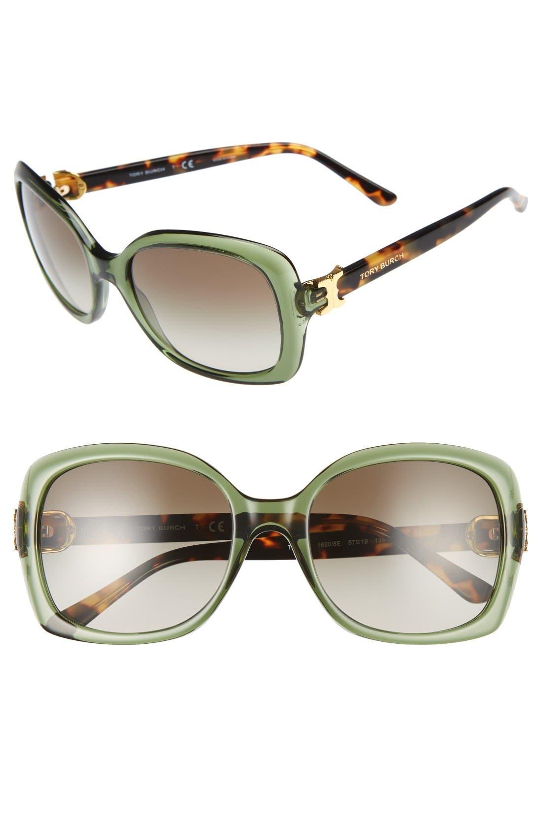 TORY BURCH 57mm Oversized Sunglasses