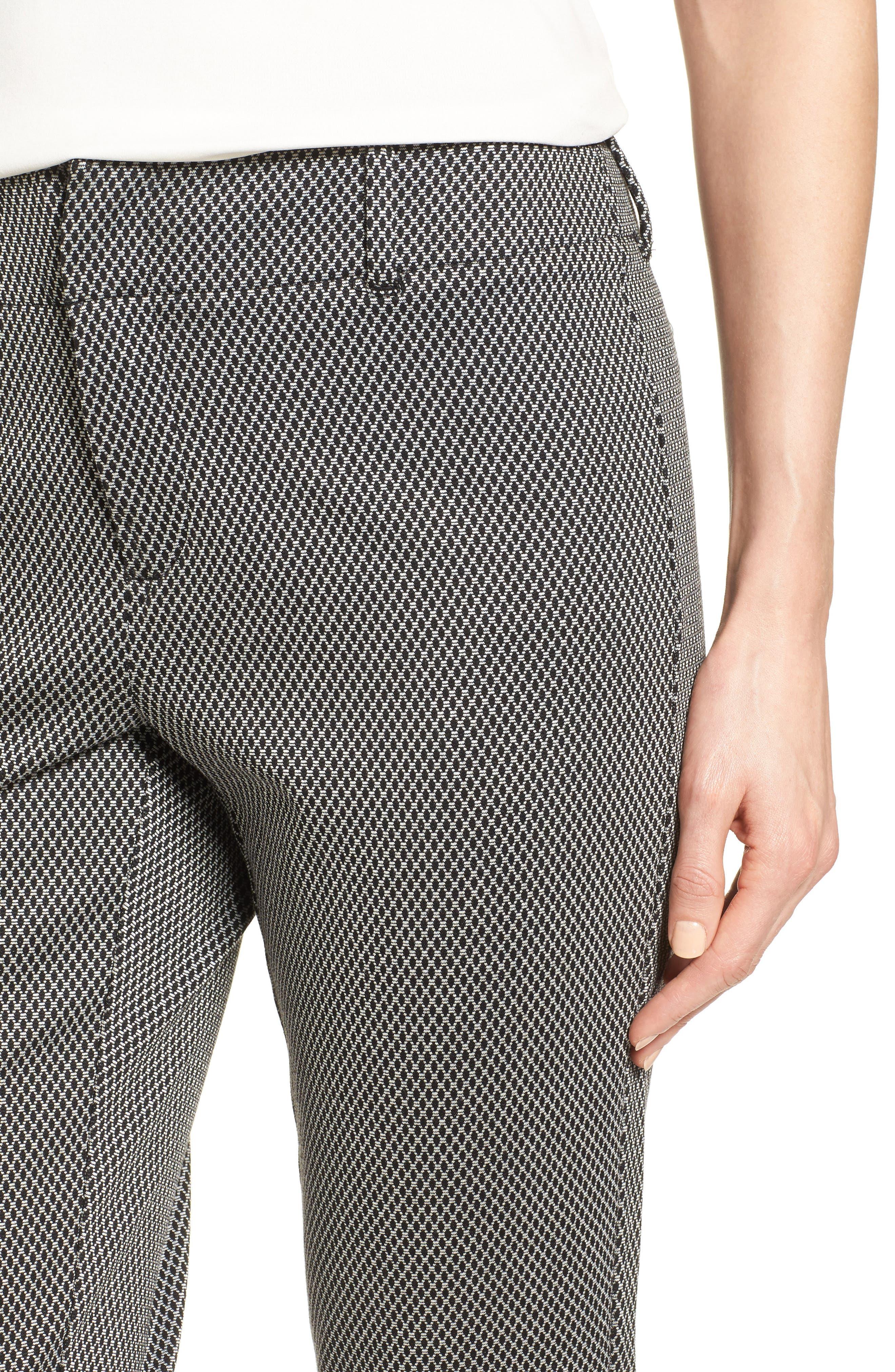 Alternate Image 4  - NYDJ Renee Stretch Jacquard Ankle Pants