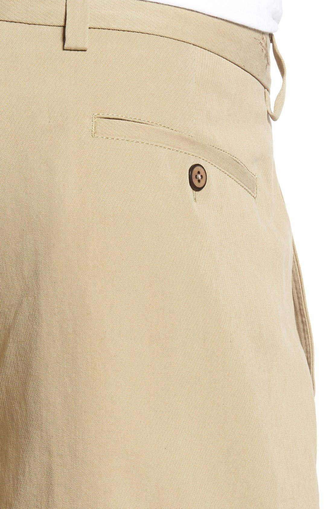 St. Thomas Pleated Shorts,                             Alternate thumbnail 4, color,                             Sisal