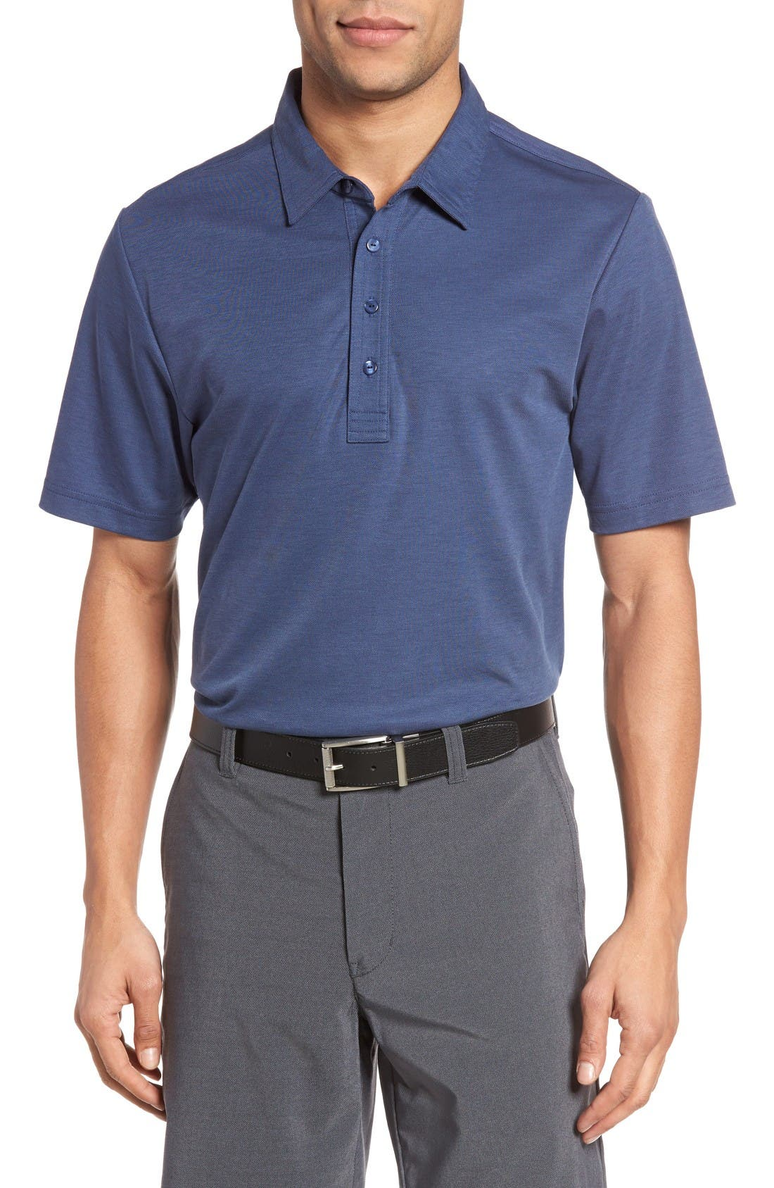 The Ten Year Polo,                             Main thumbnail 1, color,                             Dark Blue