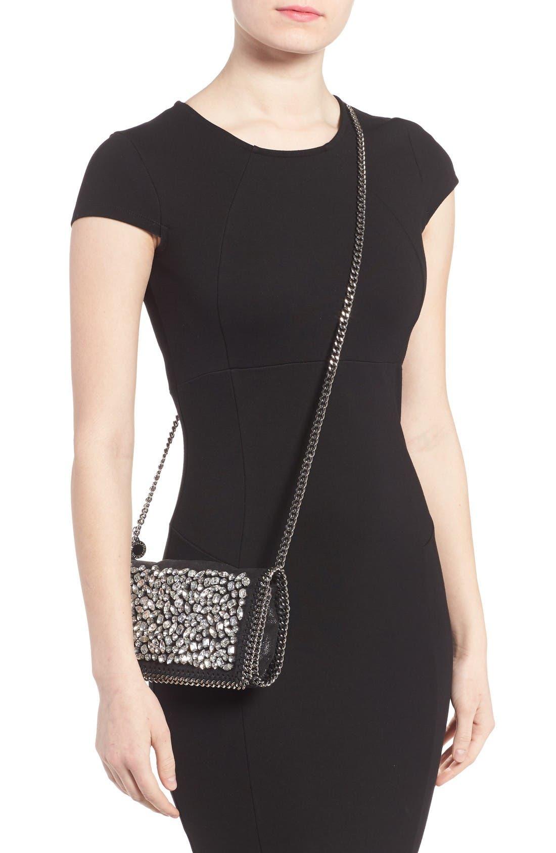 Alternate Image 2  - Stella McCartney Small Fallabella Crystal Faux Leather Crossbody Bag