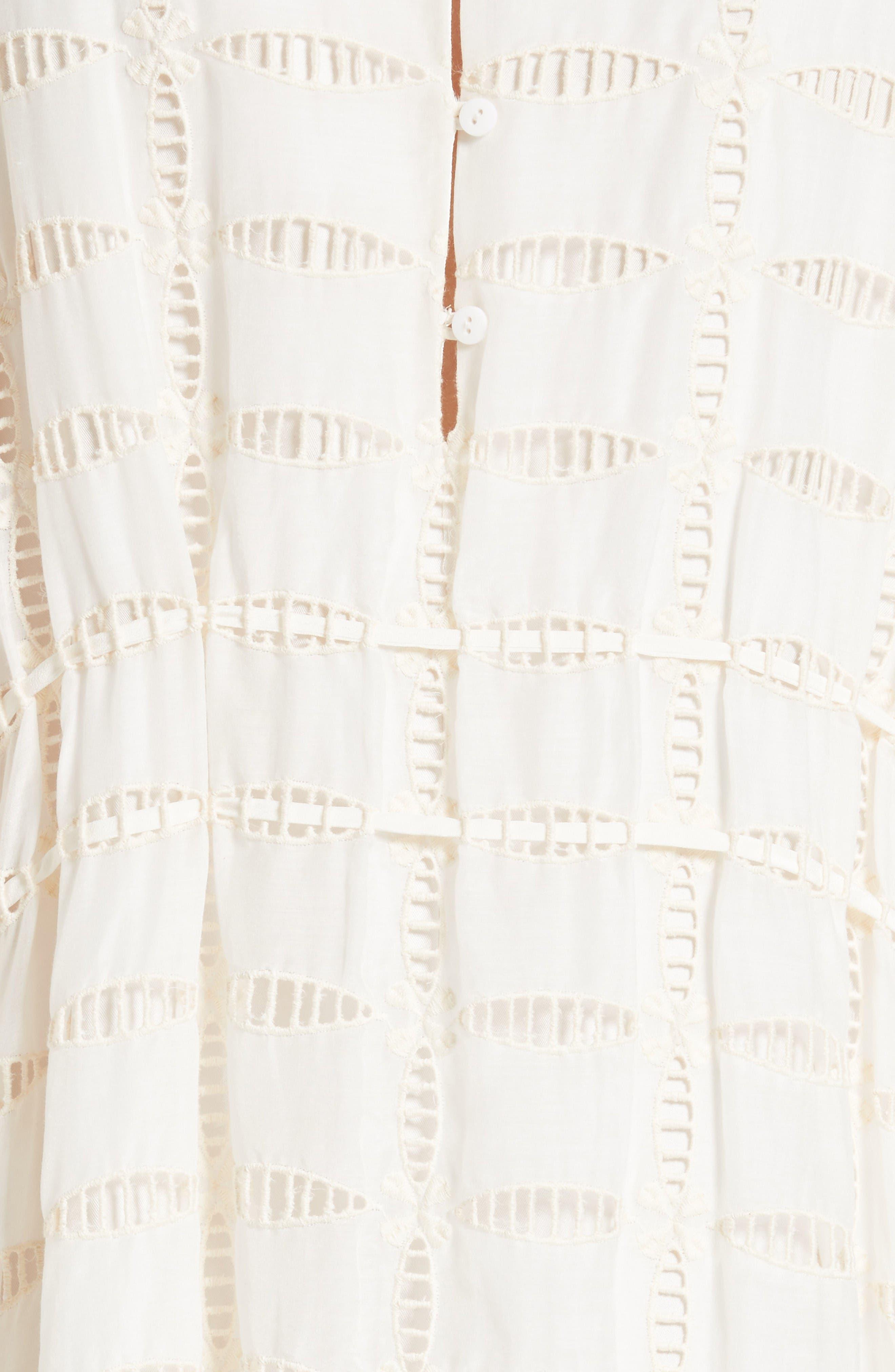Alternate Image 5  - Tibi Luca Cold Shoulder Eyelet Midi Dress