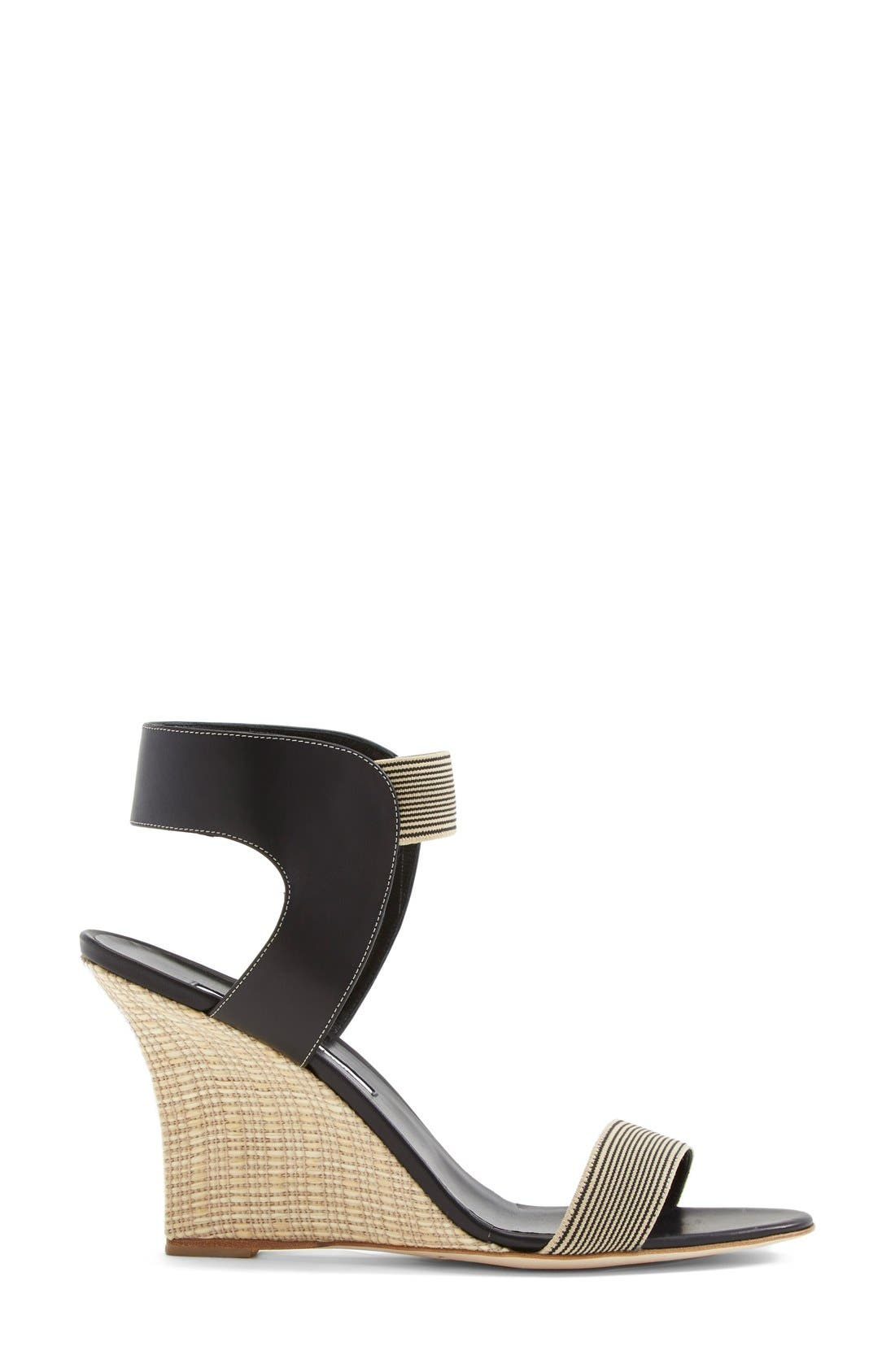 Alternate Image 4  - Manolo Blahnik Ankle Strap Wedge Sandal (Women)