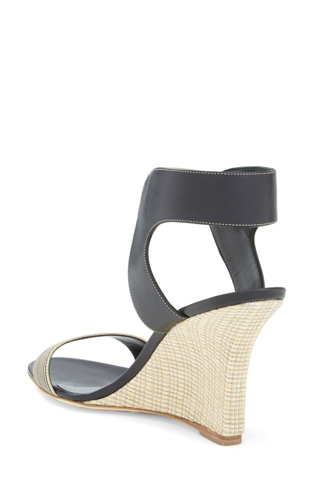 Alternate Image 2  - Manolo Blahnik Ankle Strap Wedge Sandal (Women)