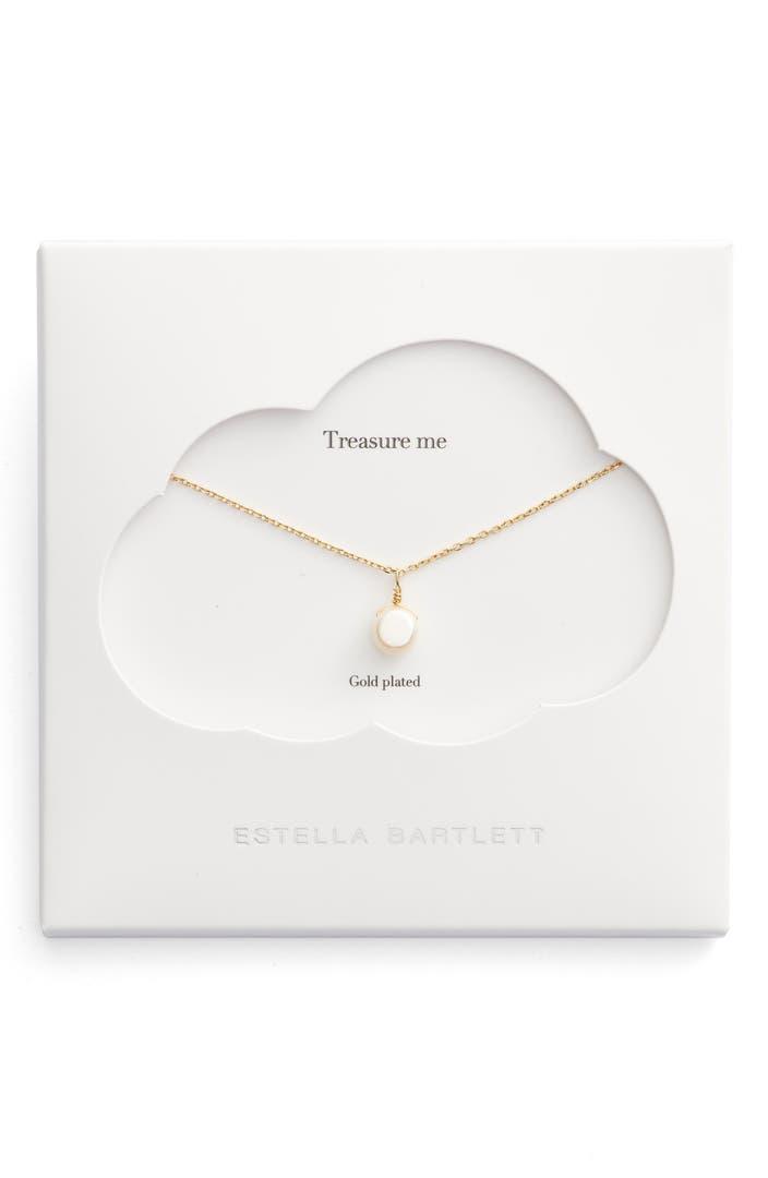 Estella Bartlett Treasure Me Pearl Necklace Nordstrom