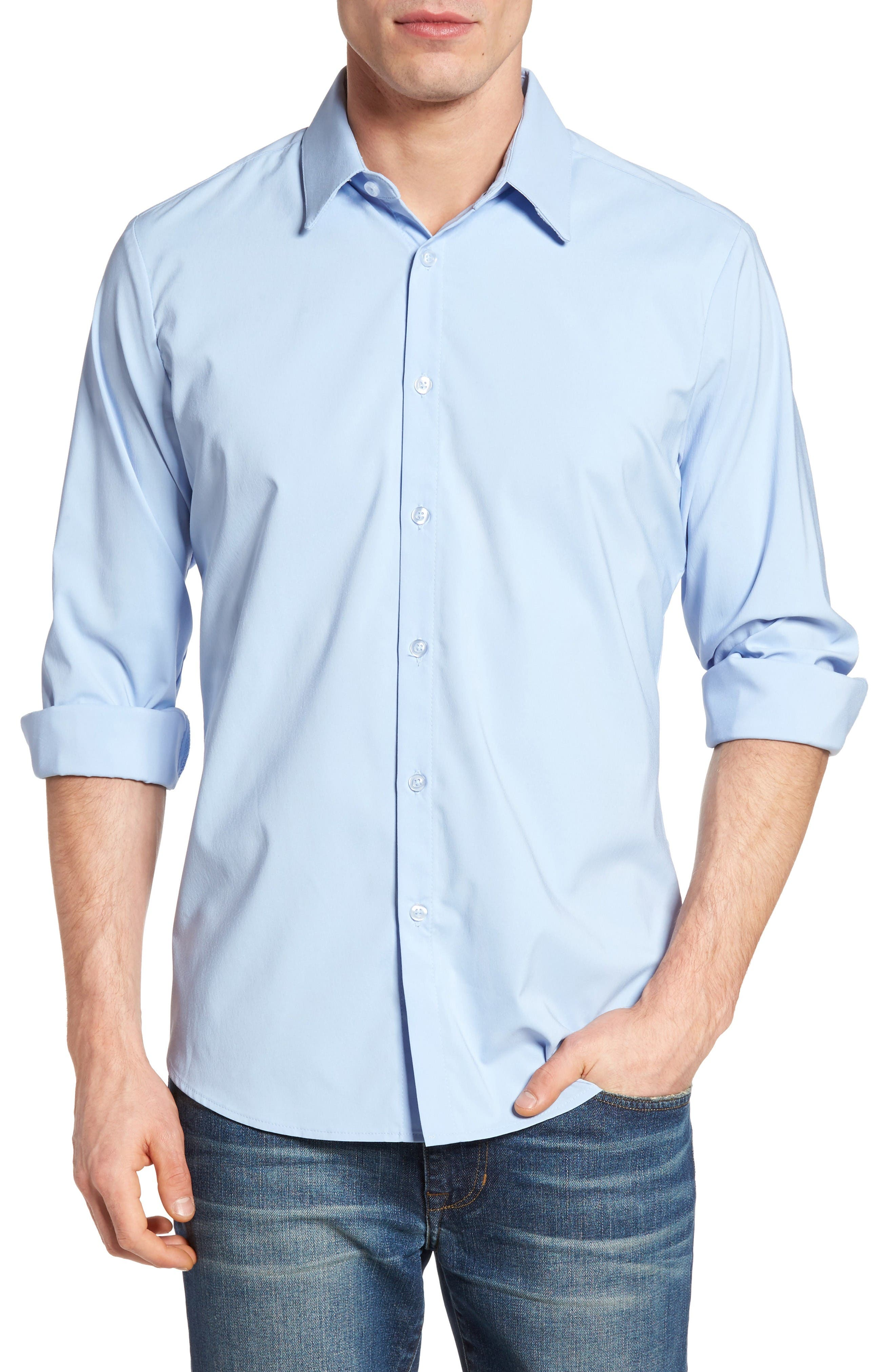 MIZZEN+MAIN Adelman Slim Fit Performance Sport Shirt