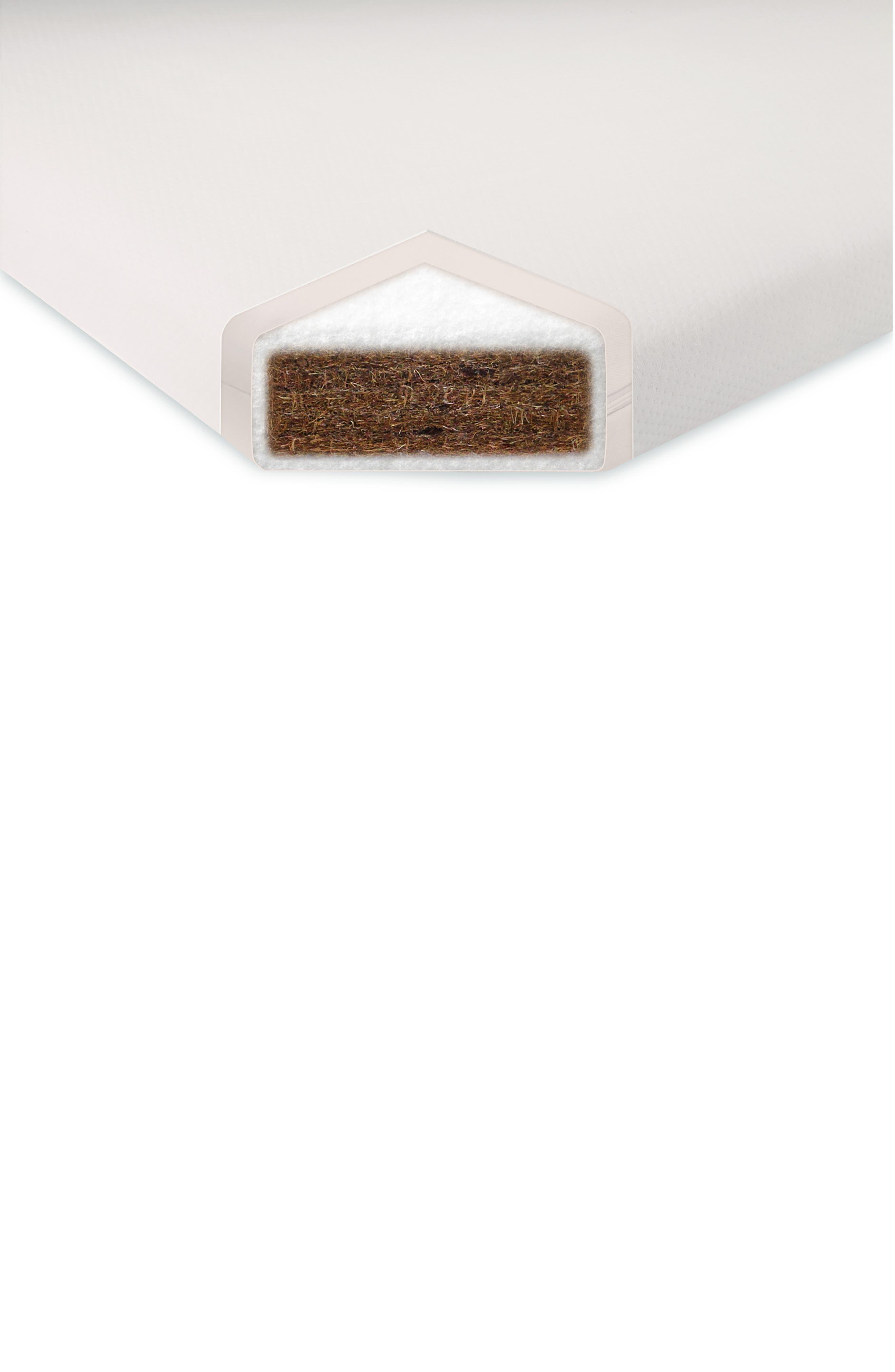 Alternate Image 2  - babyletto Hula Pure Coco Core Nontoxic Oval Crib Mattress & Water Repellent Cover