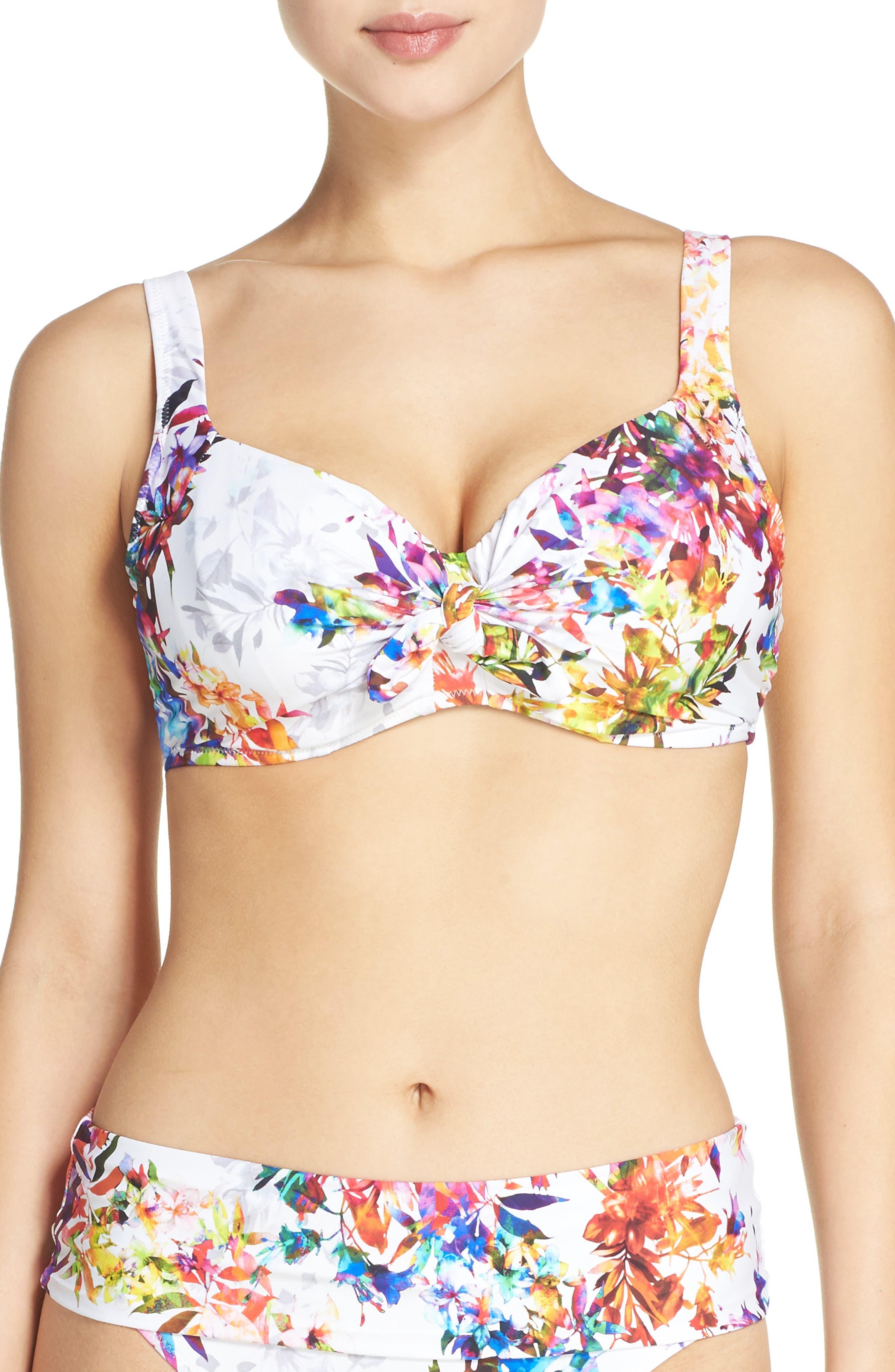 Agra Underwire Bikini Top,                         Main,                         color, White Multi