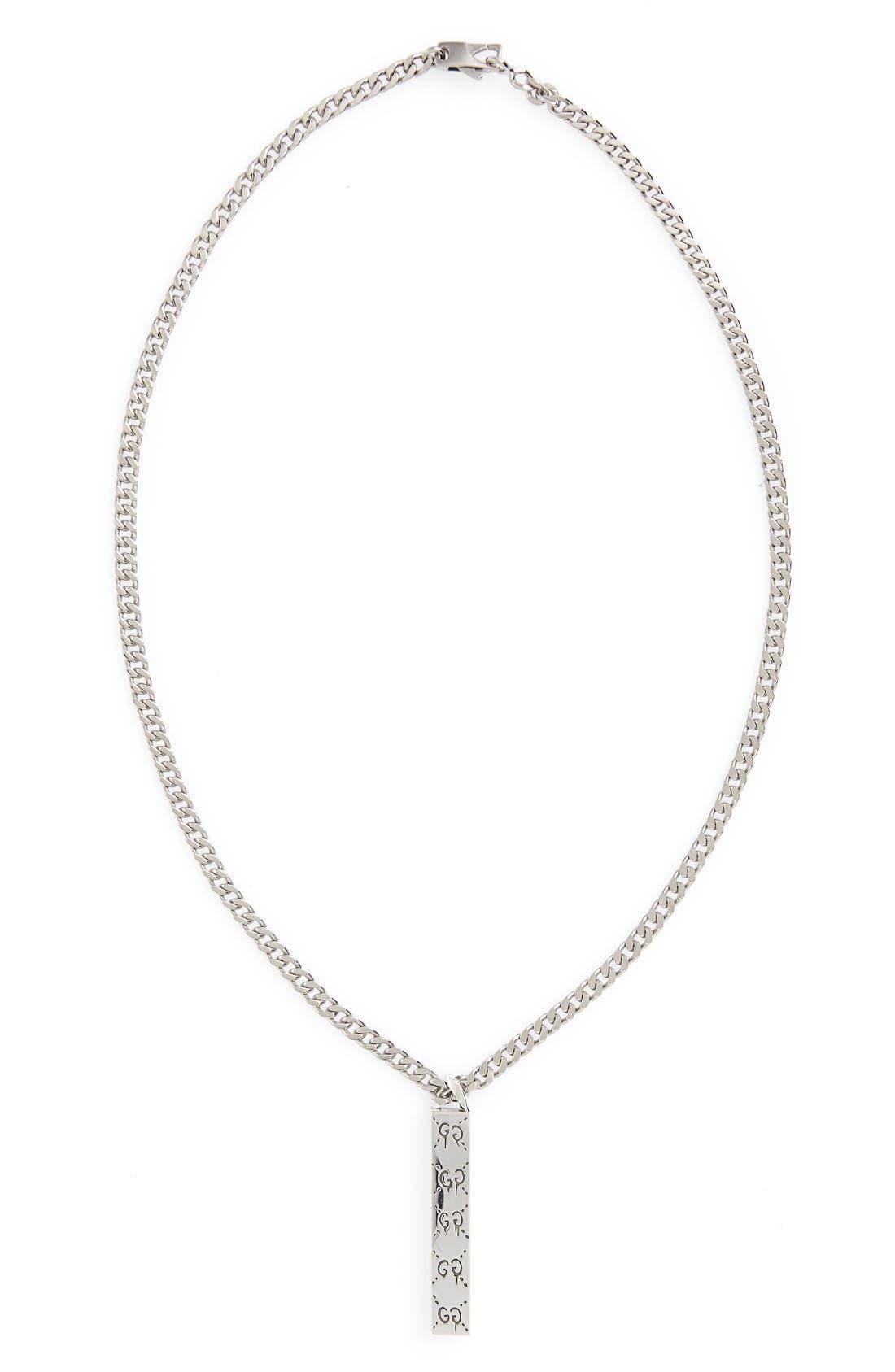 gucci necklace mens. gucci ghost motif pendant necklace mens 1