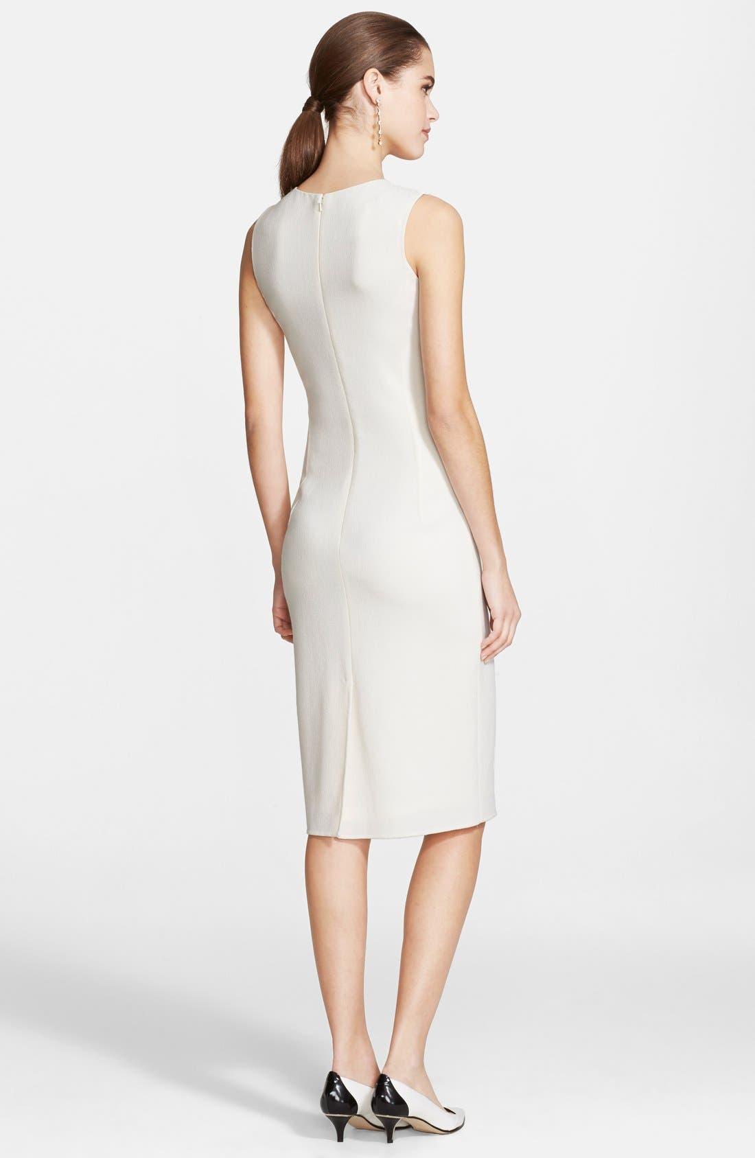 Alternate Image 2  - Oscar de la Renta Wool Crepe Pencil Dress