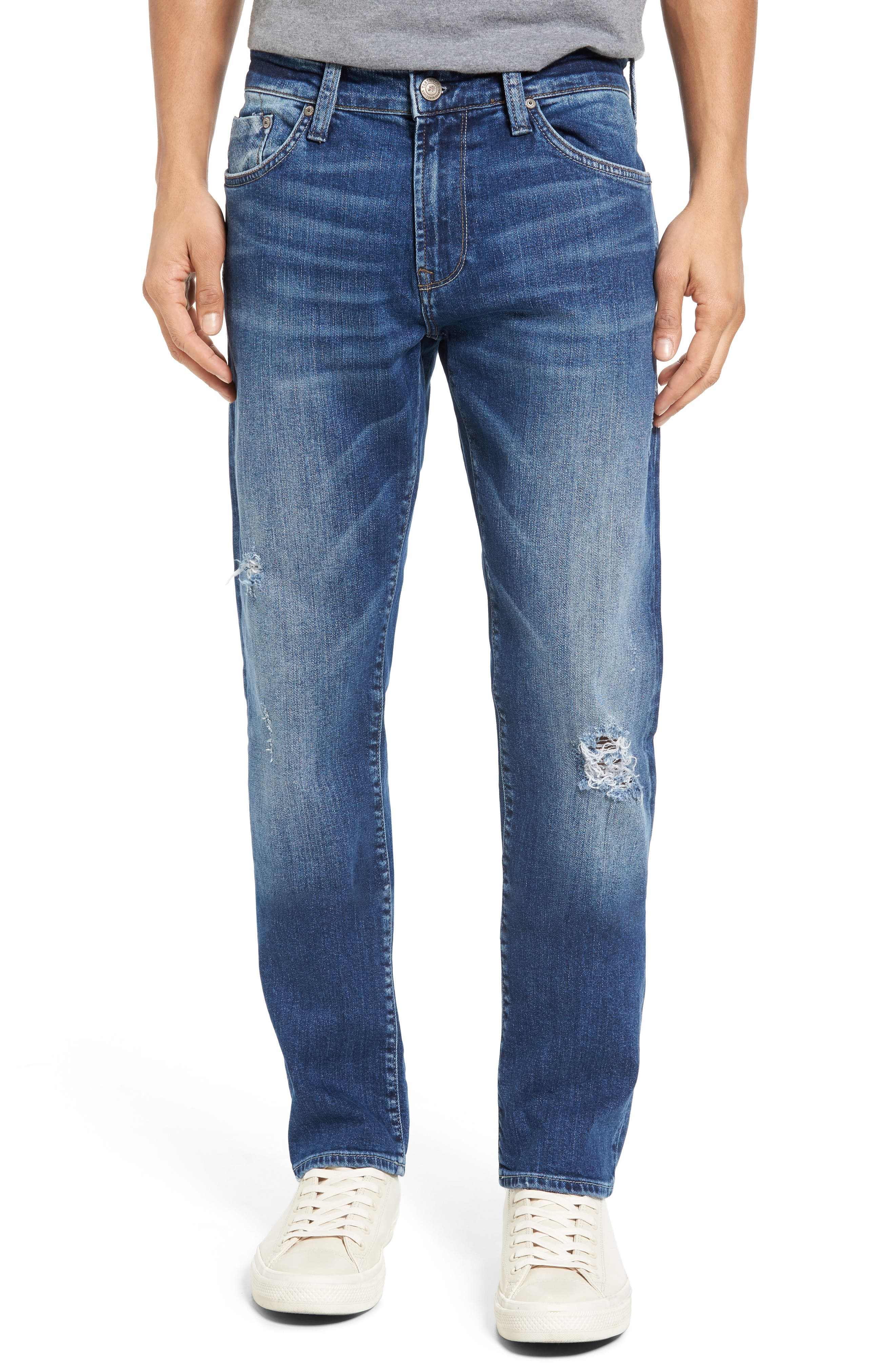 Mavi Jeans Jake Easy Slim Fit Jeans (Mid Ripped)