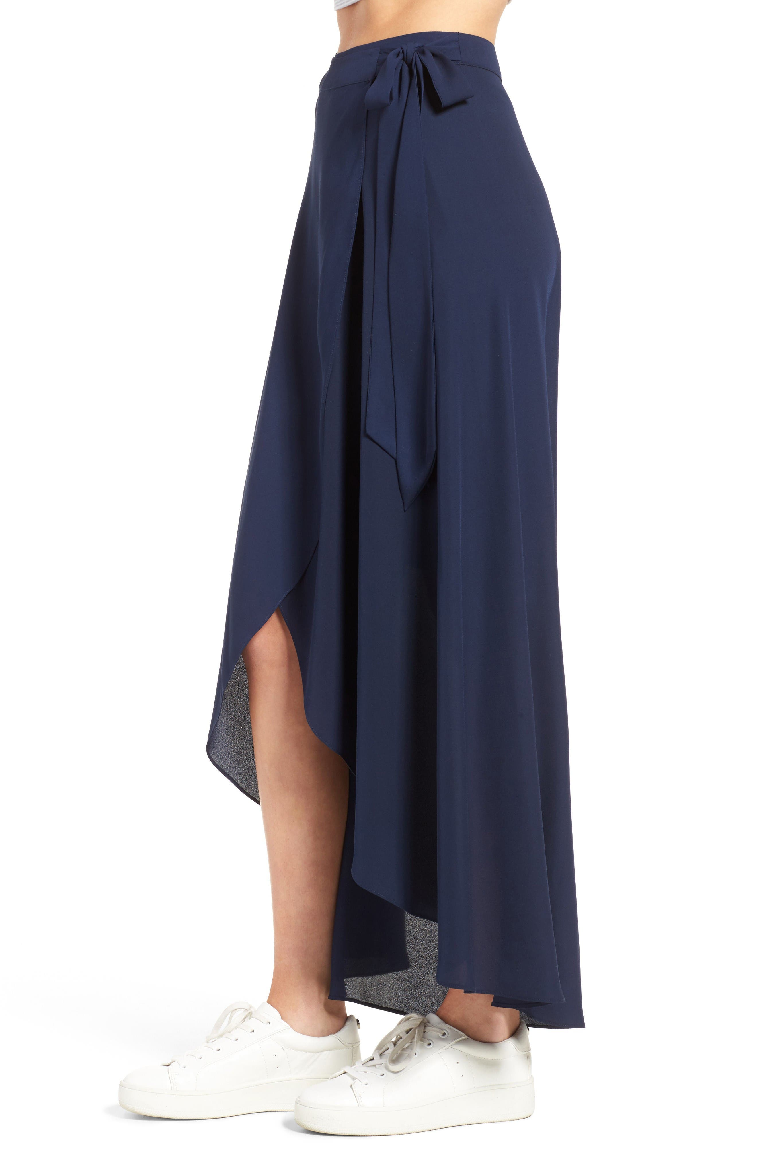 Alternate Image 3  - Soprano High/Low Wrap Skirt