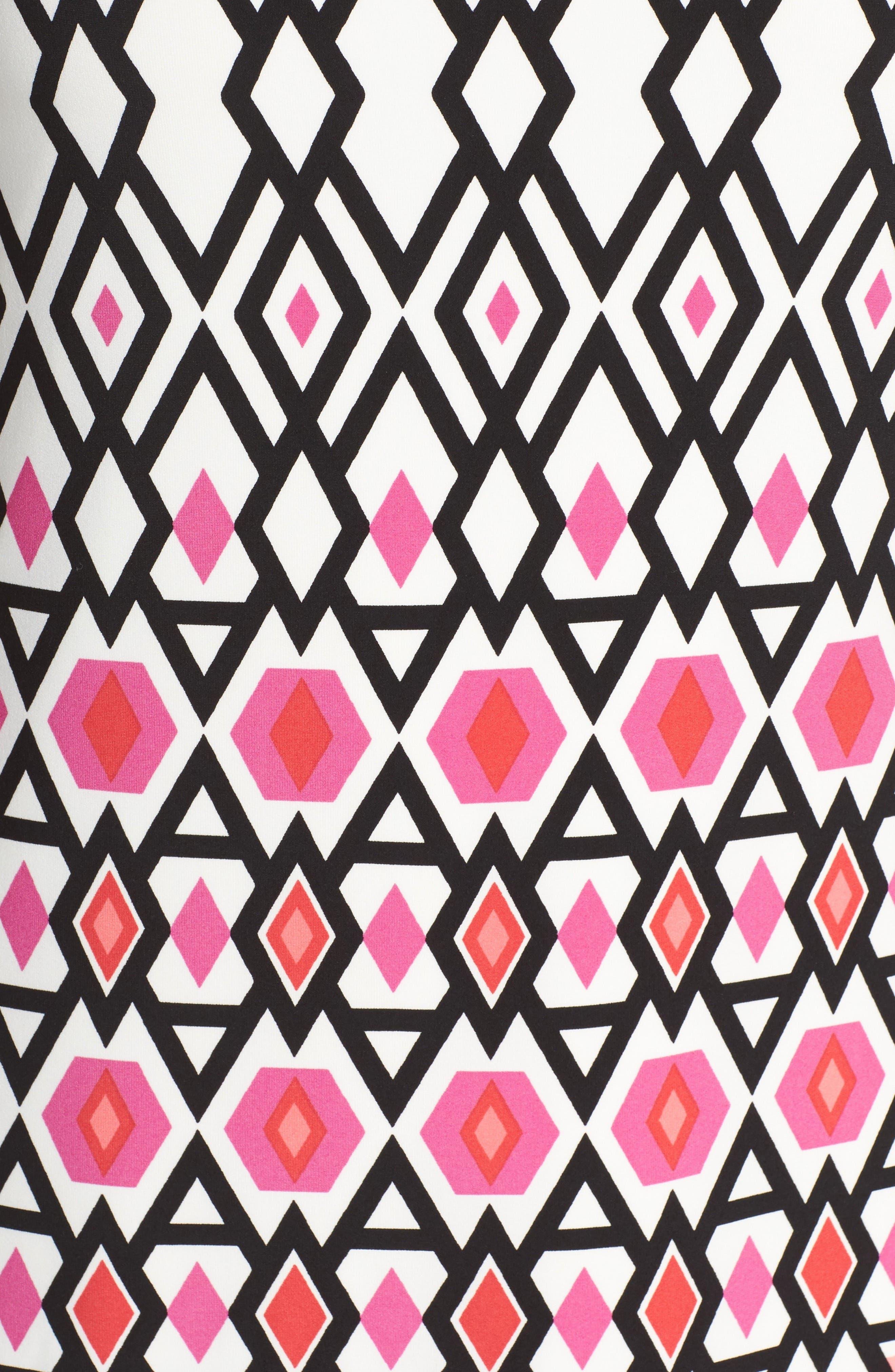 Alternate Image 5  - Eliza J Graphic Print Shift Dress (Plus Size)