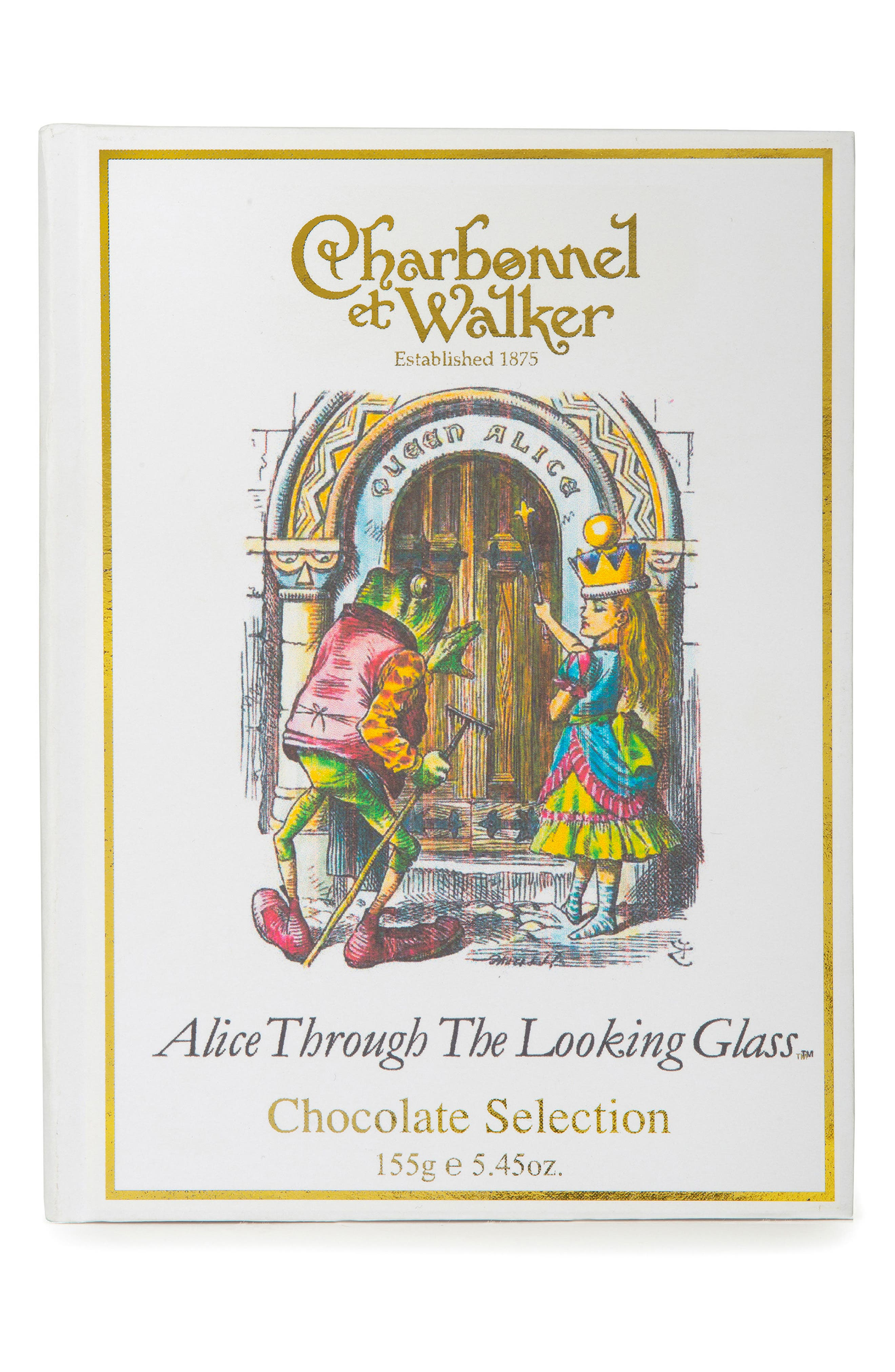 Fine Chocolate Selection in Alice Through the Looking Glass Gift Box,                         Main,                         color, White/ Multi