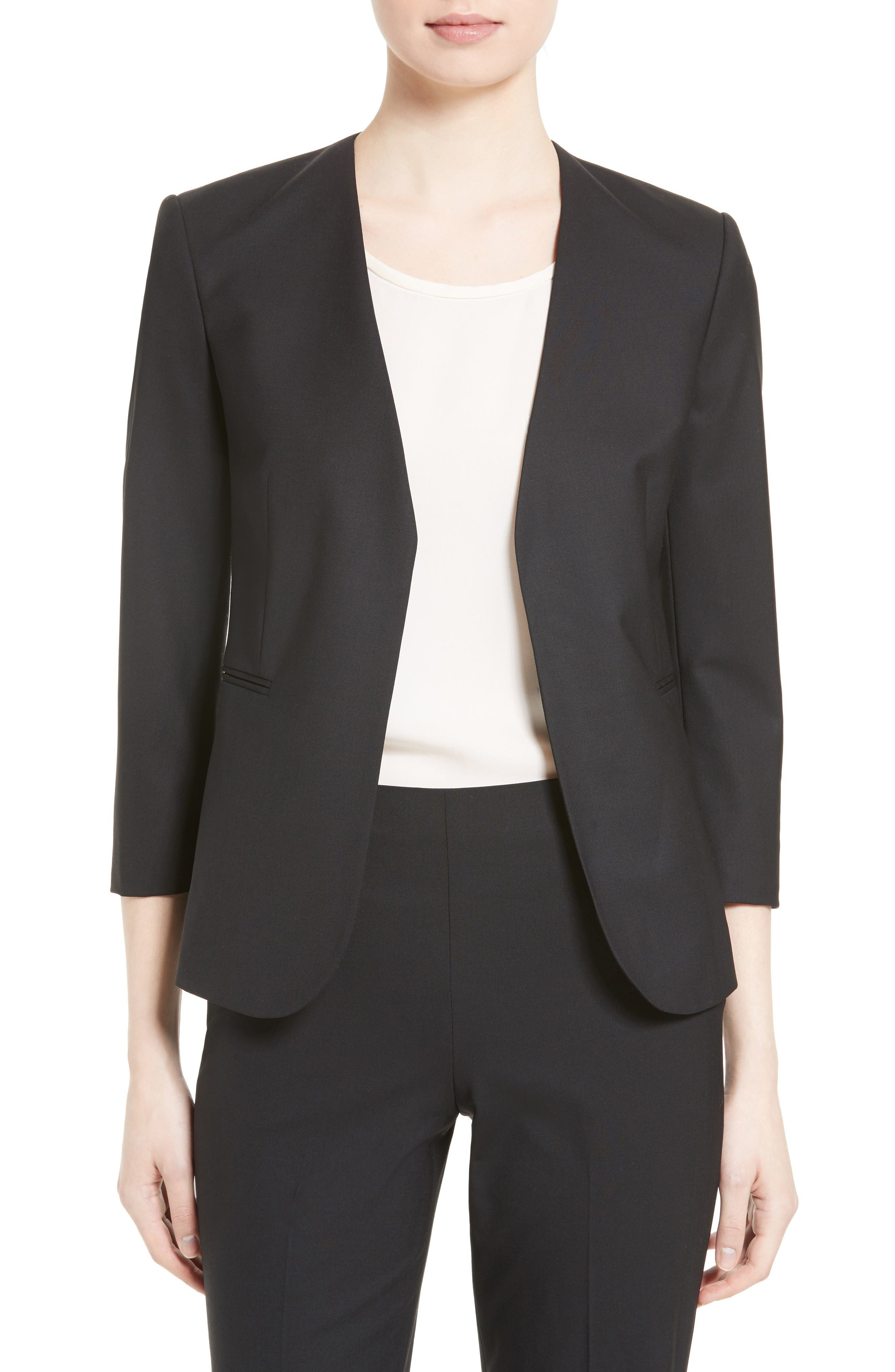 Main Image - Theory Lindrayia B Good Wool Suit Jacket (Nordstrom Exclusive)