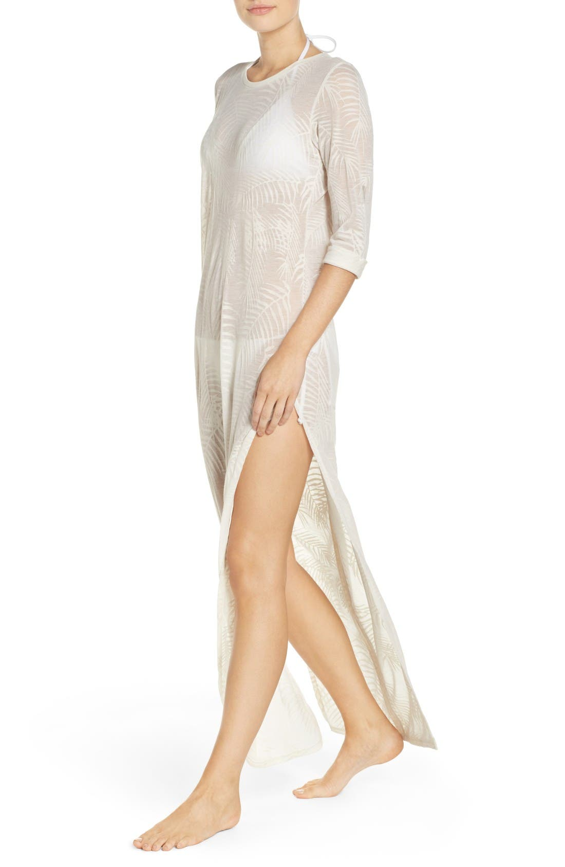 Finley Cover-Up Maxi Dress,                             Alternate thumbnail 4, color,                             White