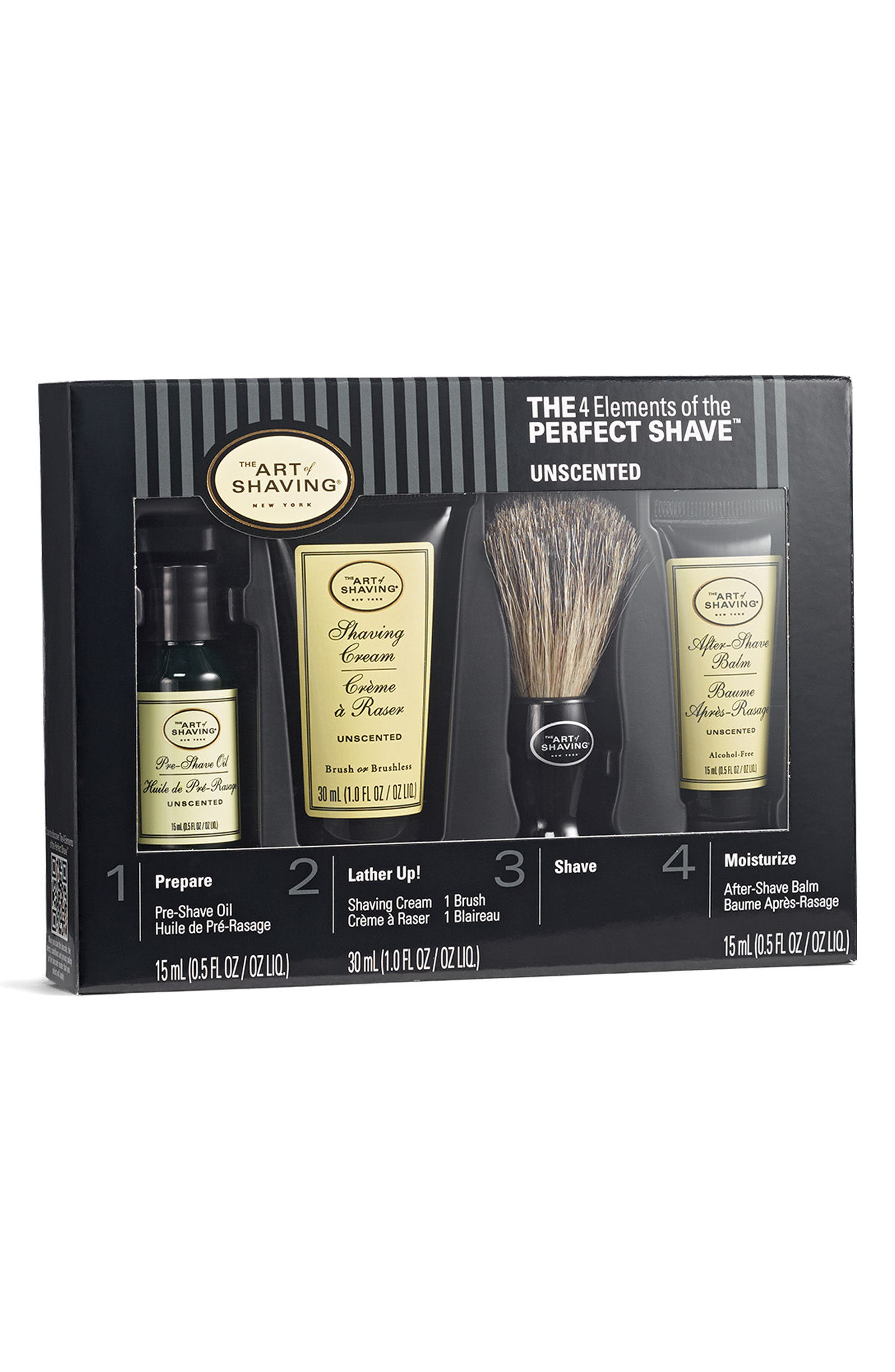 The 4 Elements of The Perfect Shave<sup>®</sup> Starter Kit,                             Main thumbnail 1, color,                             Unscented