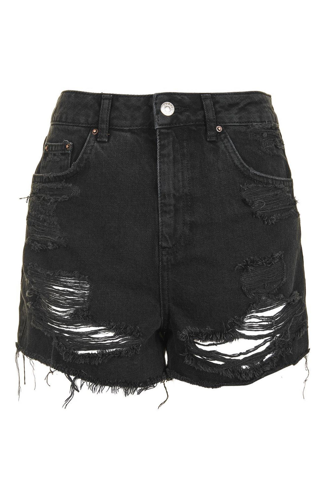 Alternate Image 5  - Topshop Ripped Mom Shorts (Regular & Petite)