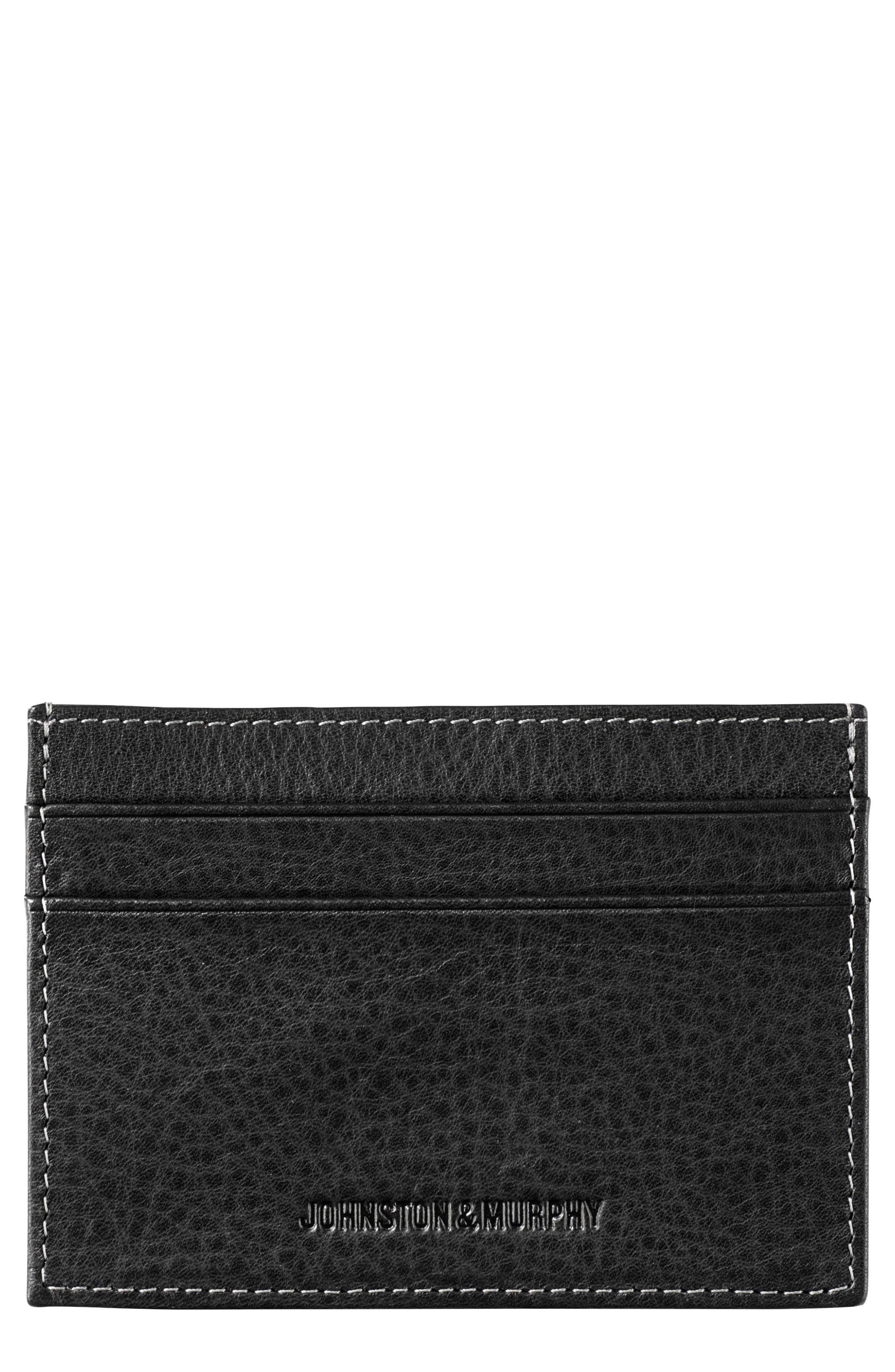 Main Image - Johnston & Murphy Leather Card Case