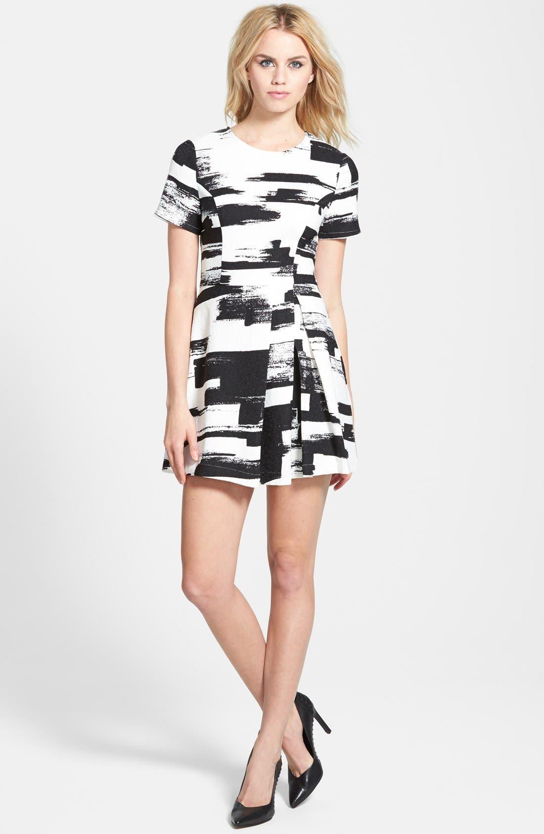 Main Image - re:named Paneled Short Sleeve Dress