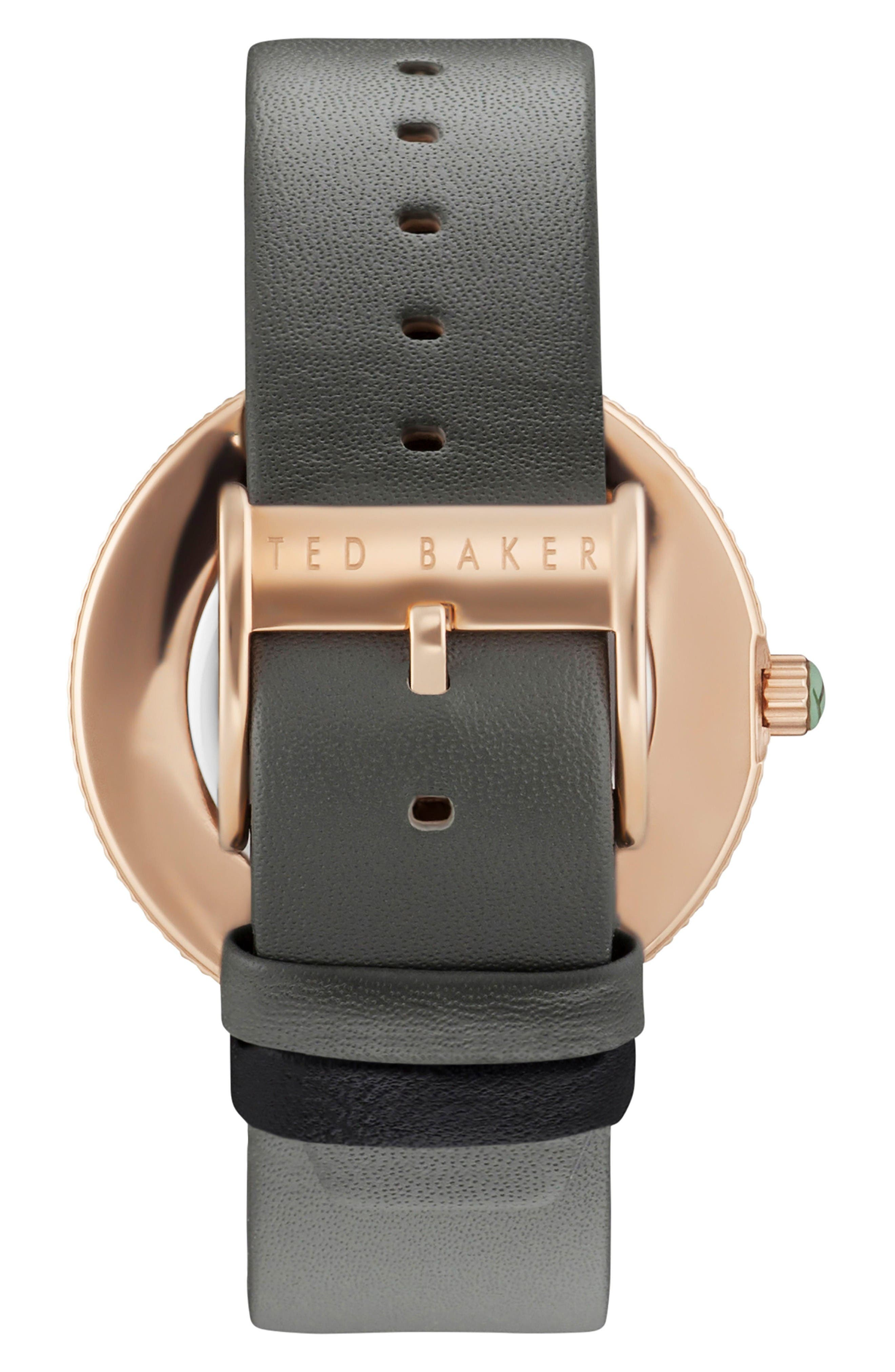 Alternate Image 2  - Ted Baker London Jack Multifunction Leather Strap Watch, 40mm