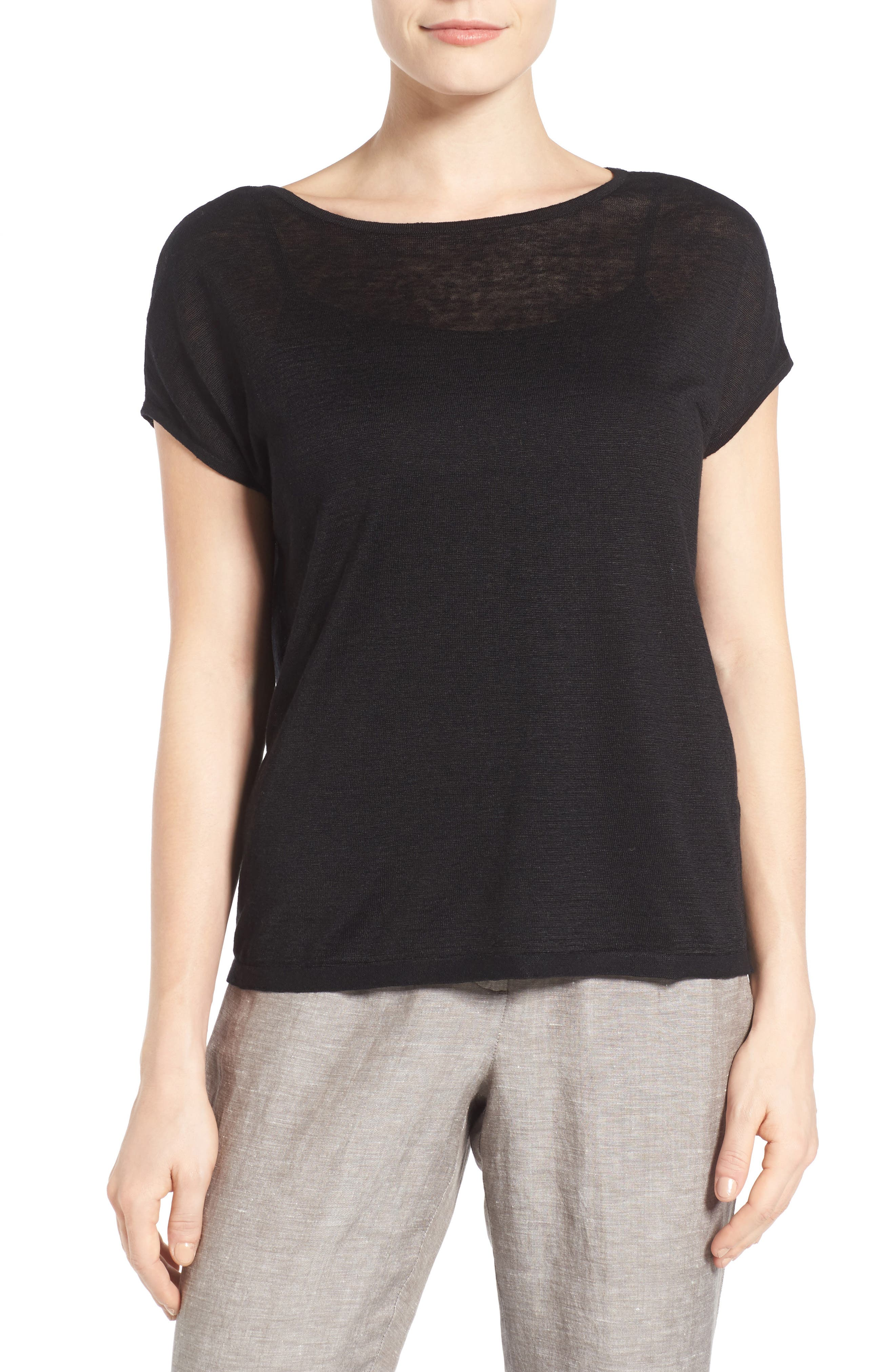 Everyday Tissue Weight Tee,                             Main thumbnail 1, color,                             Black Onyx
