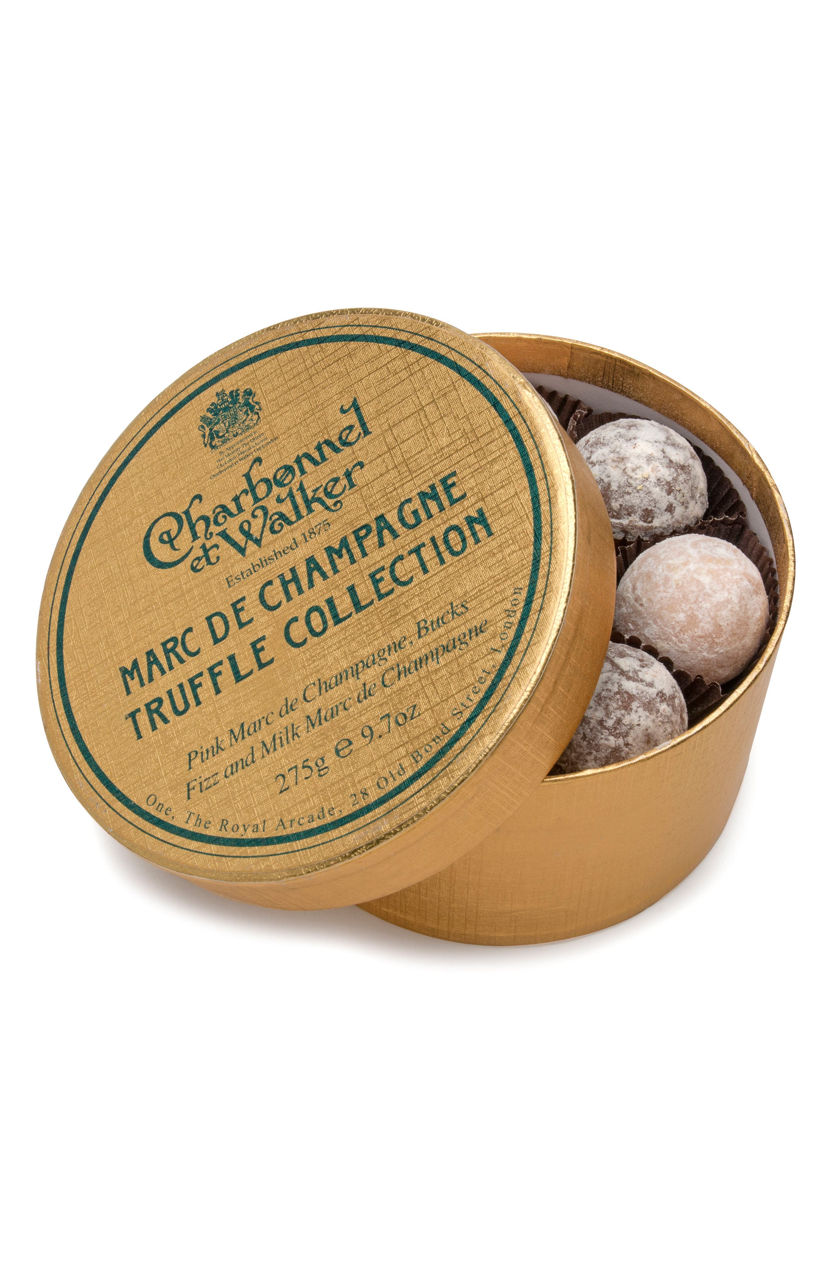 Marc de Champagne Chocolate Truffles in Double Layer Gift Box,                         Main,                         color, Gold