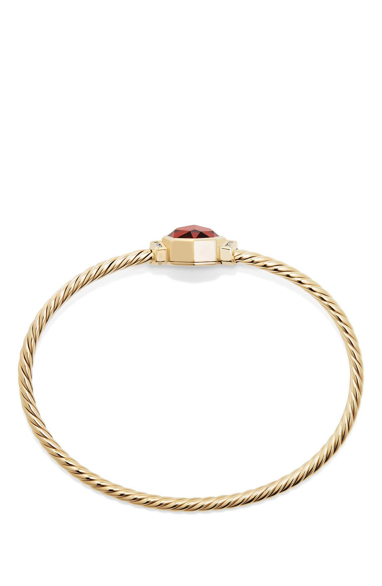Alternate Image 2  - David Yurman Guilin Octagon Bracelet with Diamonds in 18K Gold