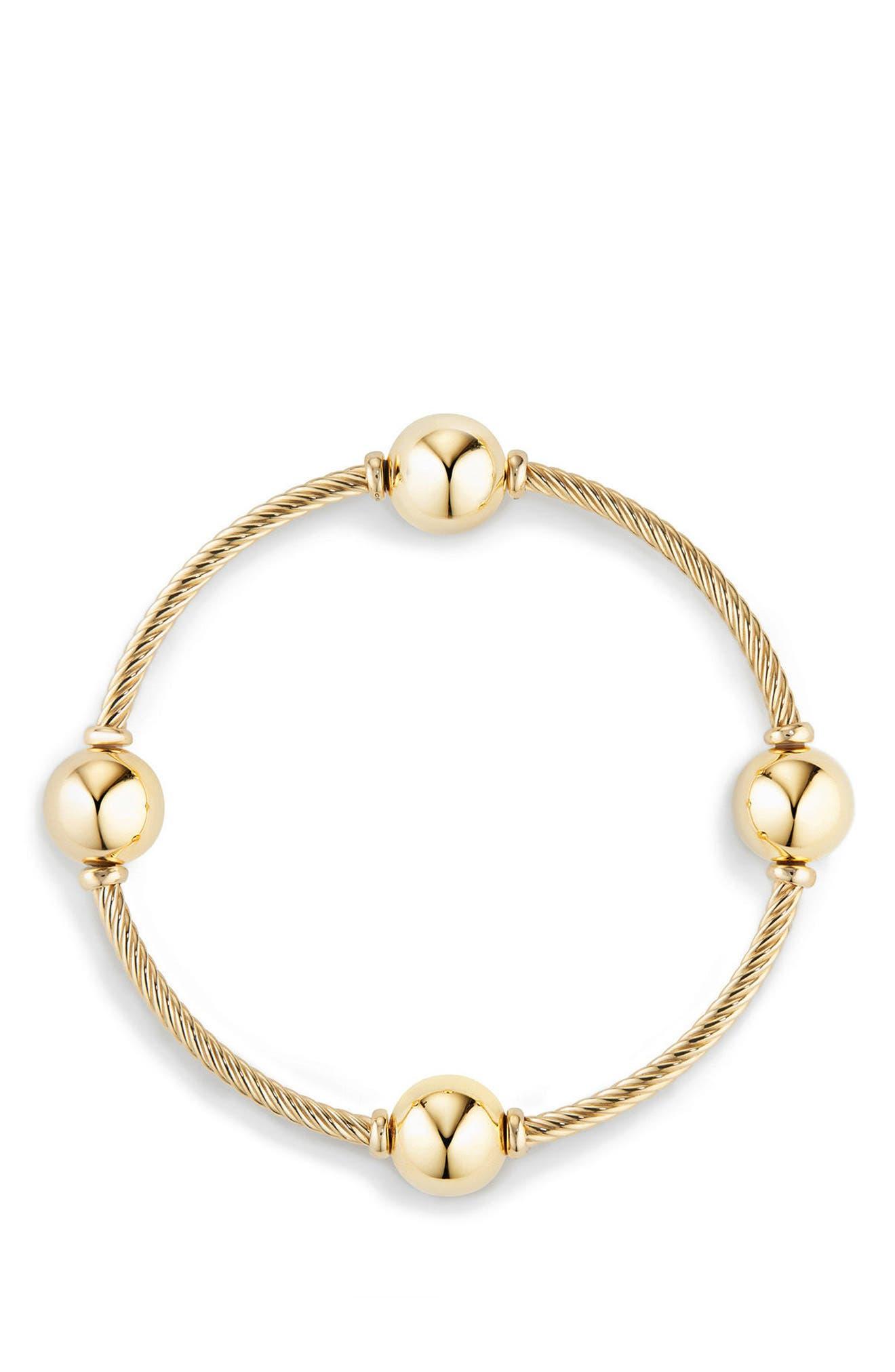 Alternate Image 2  - David Yurman Mustique Four Station Bangle Bracelet in 18K Gold