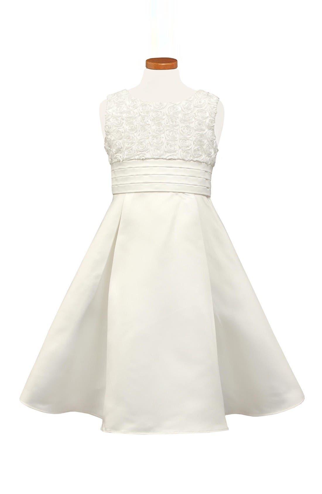 Alternate Image 1 Selected - Sorbet Rosette Sleeveless Dress (Little Girls)