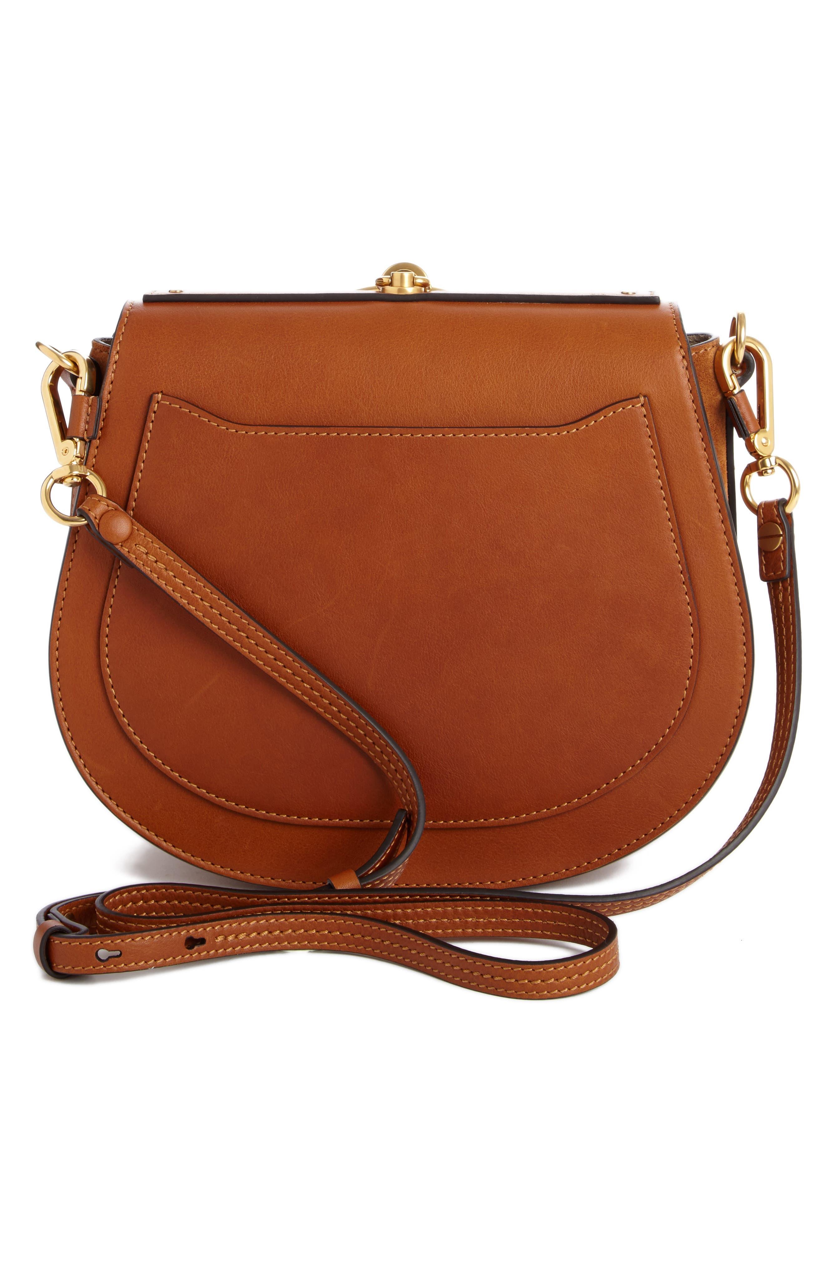 Medium Nile Leather Bracelet Saddle Bag,                             Alternate thumbnail 2, color,                             Bdu Caramel