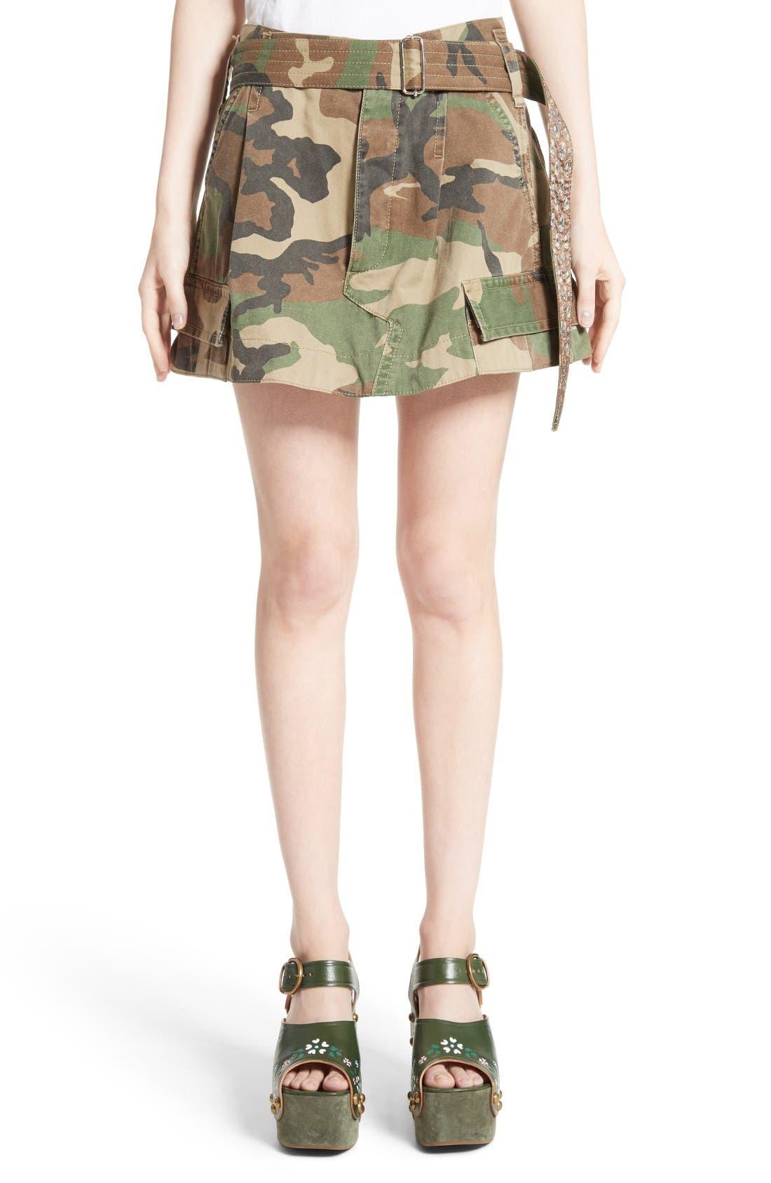 Main Image - MARC JACOBS Camo Print Cargo Miniskirt