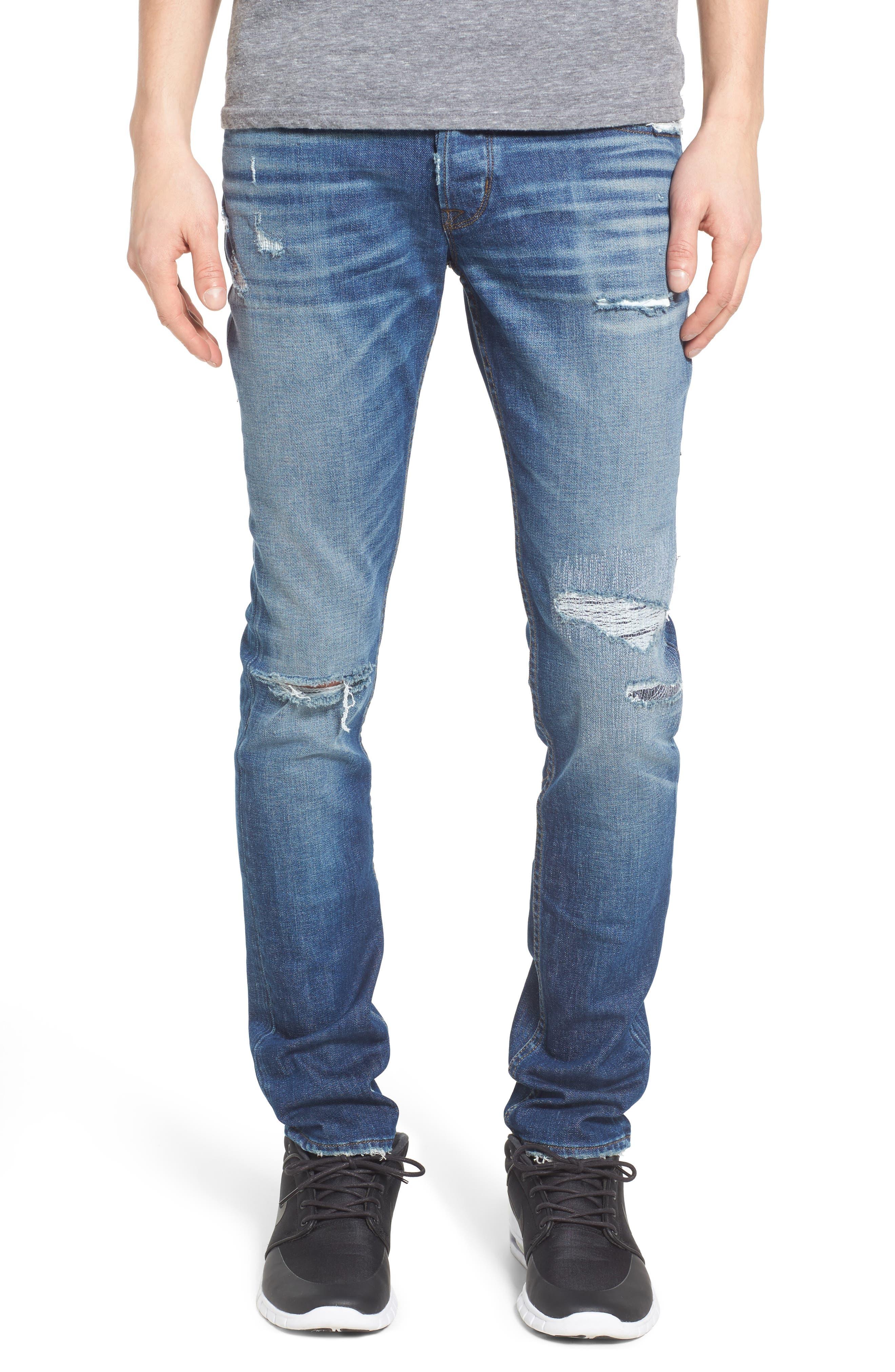 Hudson Jeans Axl Skinny Fit Jeans (Aim)