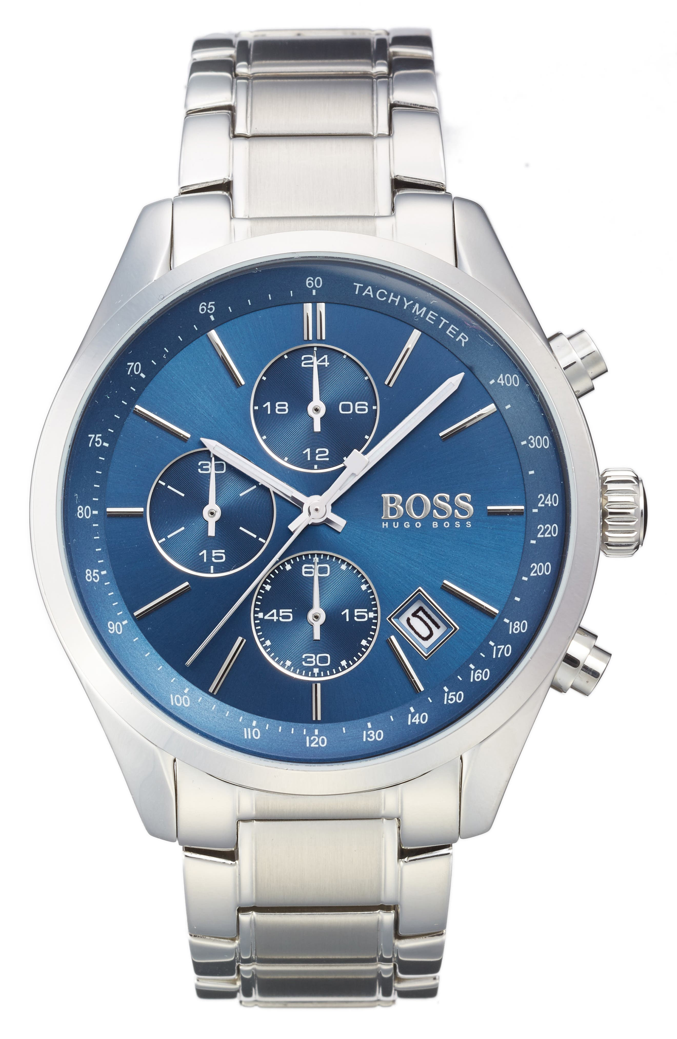 Alternate Image 1 Selected - BOSS Grand Prix Chronograph Bracelet Watch, 44mm