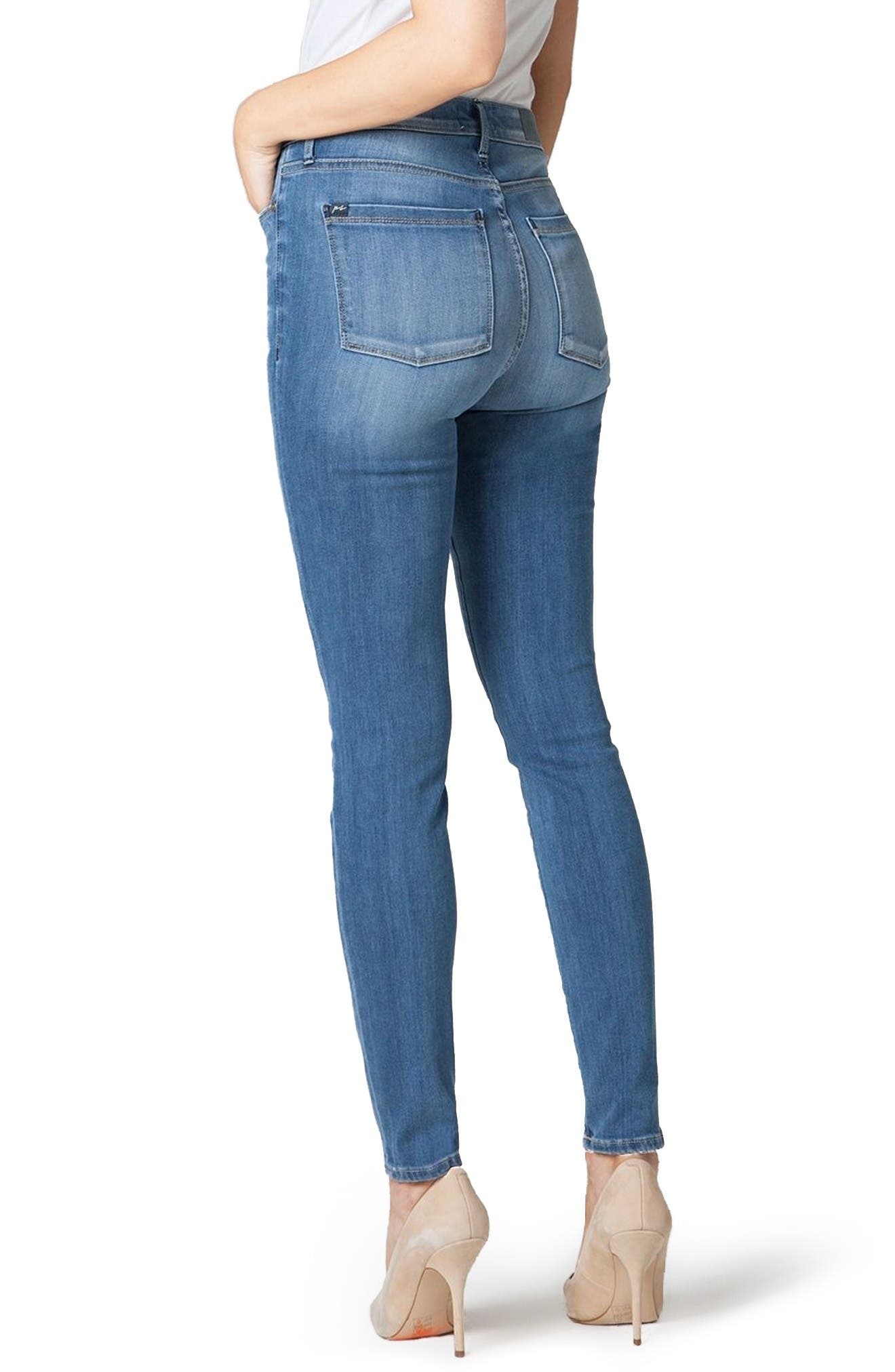 Bombshell High Waist Stretch Skinny Jeans,                             Alternate thumbnail 2, color,                             Gulf Stream
