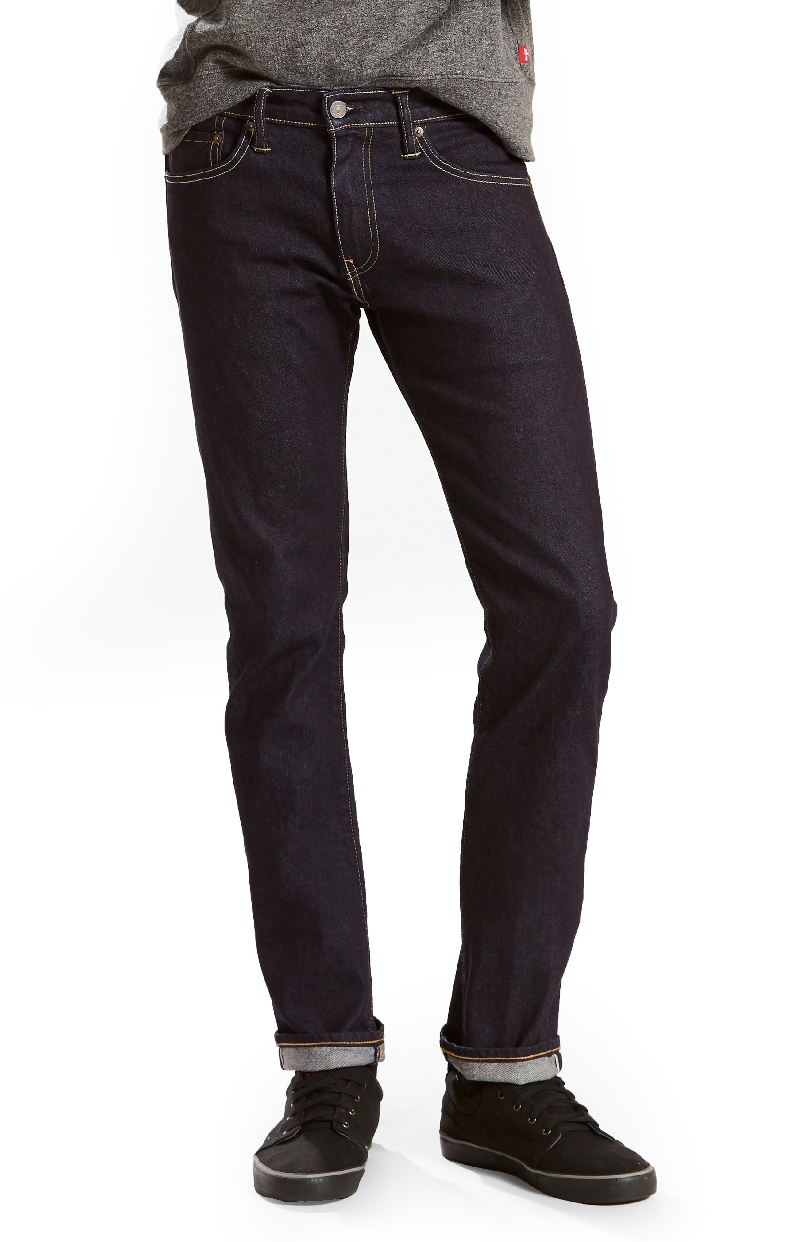 Main Image - Levi's 511 Slim Fit Jeans (Selvedge Stirline)