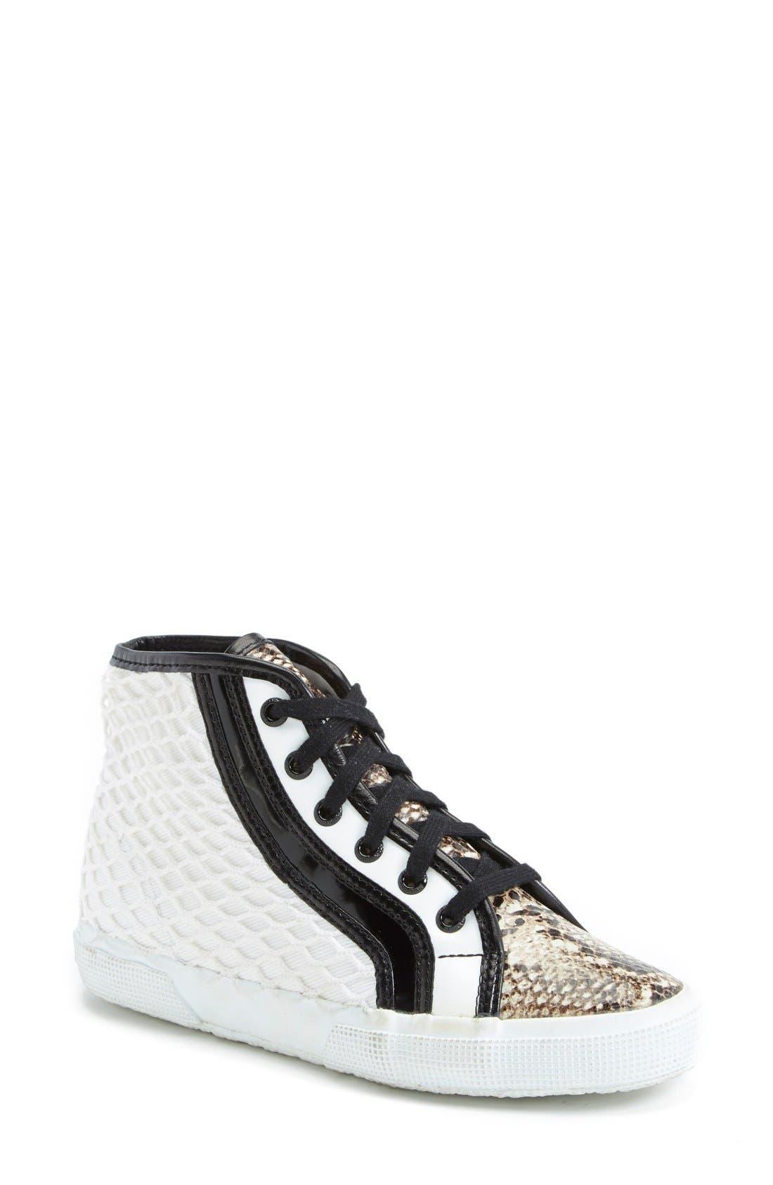Alternate Image 1 Selected - Superga Rodarte Mixed Media High Top Sneaker (Women)