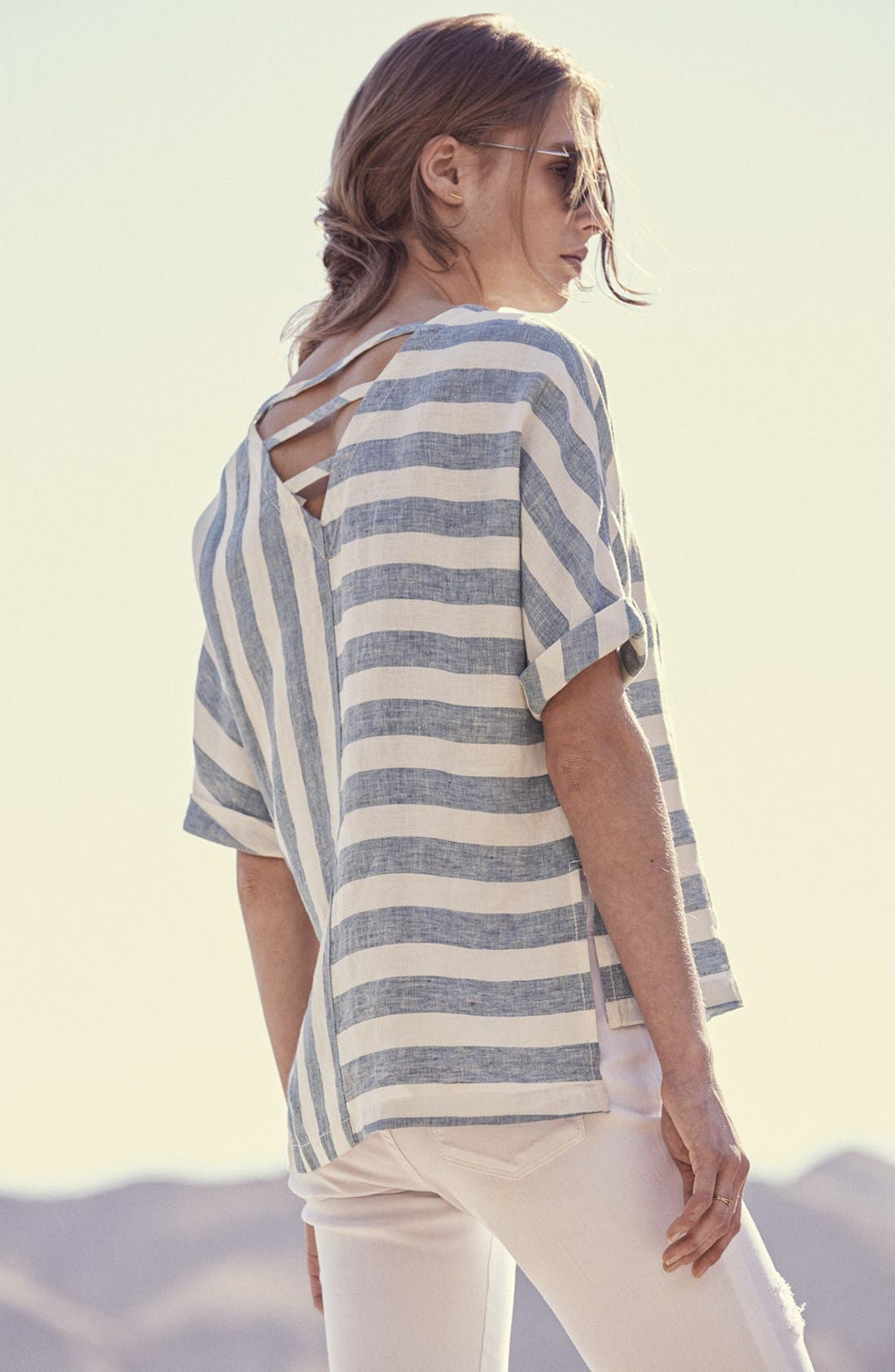 Alternate Image 2  - Caslon® Distressed Skinny Jeans (Regular & Petite)