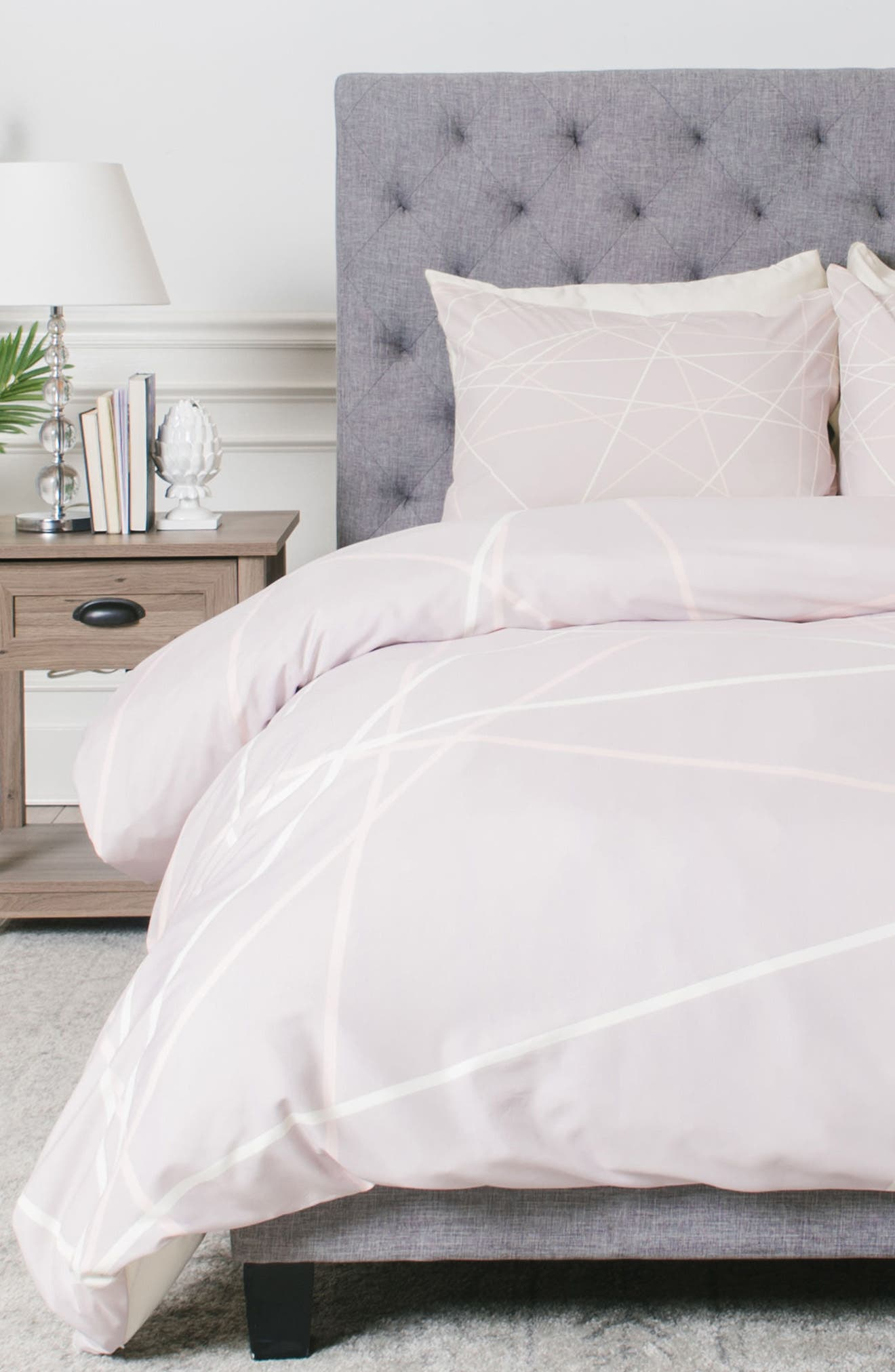 Alternate Image 1 Selected - Deny Designs Pastel Lines Duvet Cover & Sham Set