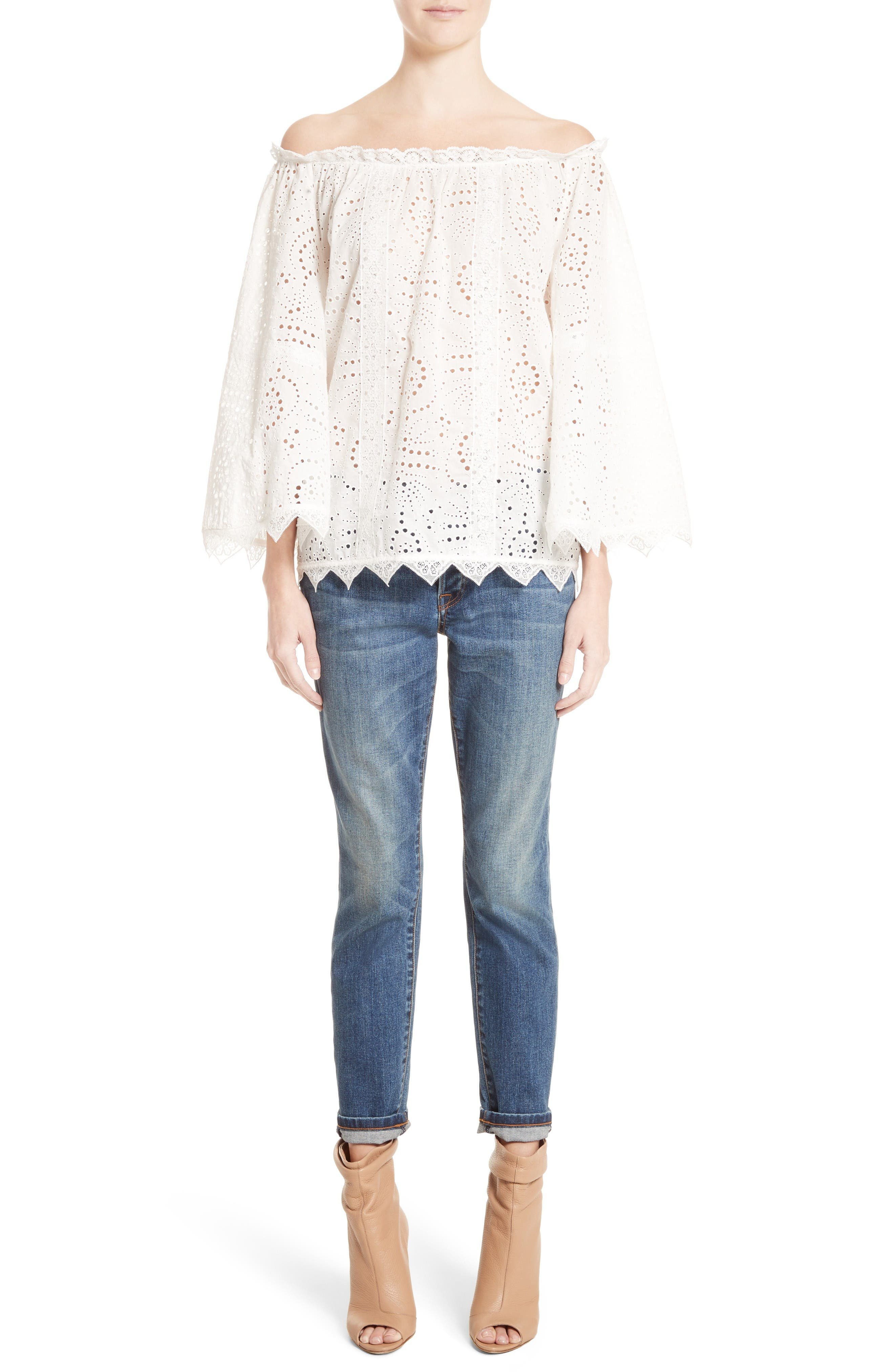 Alternate Image 8  - Burberry Relaxed Skinny Jeans