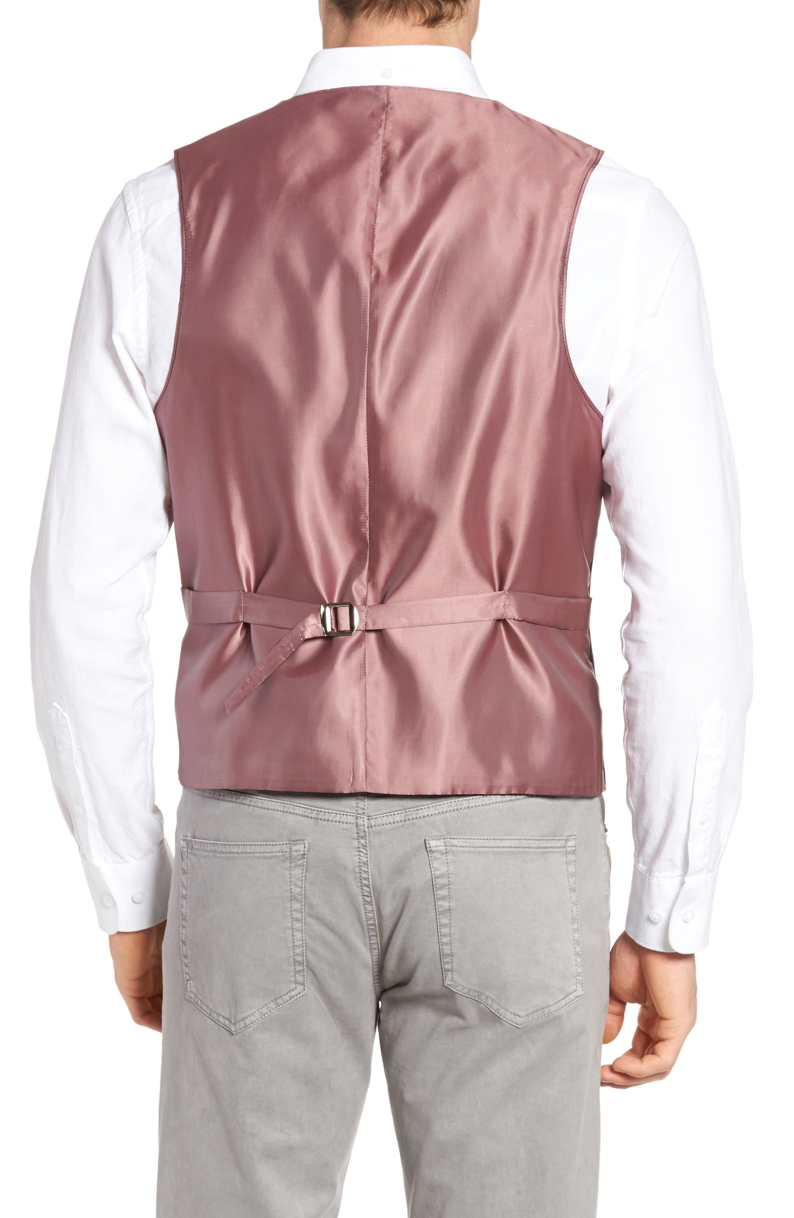 Hootie Solid Cotton & Linen Vest,                             Alternate thumbnail 2, color,                             Navy