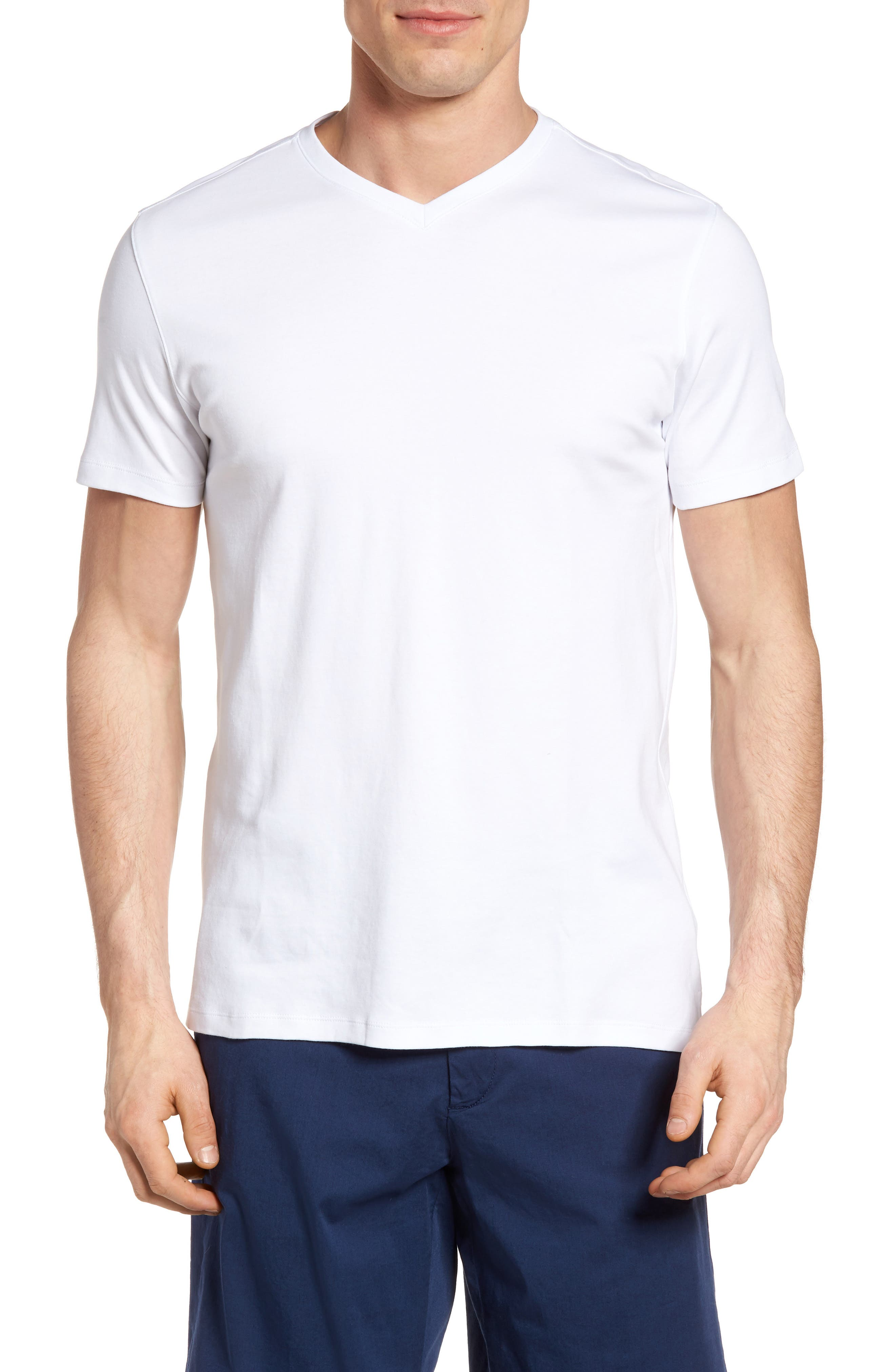 Georgia Regular Fit V-Neck T-Shirt,                             Main thumbnail 1, color,                             White
