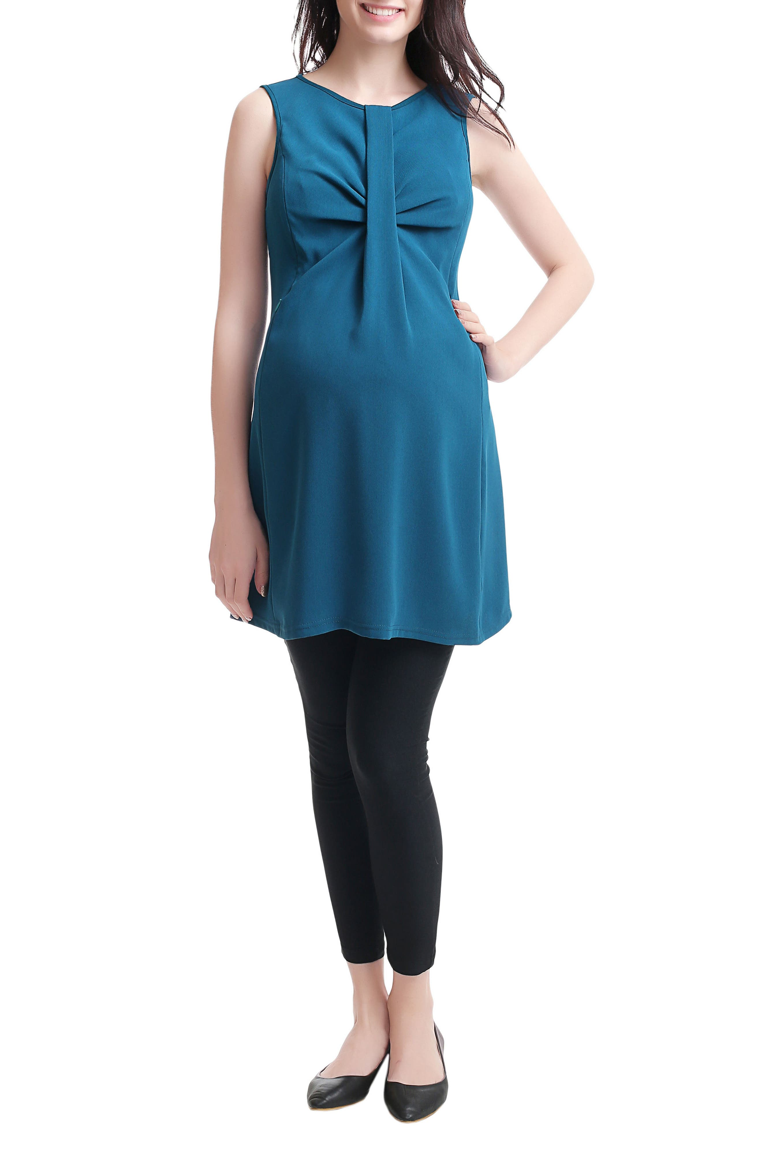 Epona Maternity/Nursing Shift Dress,                         Main,                         color, Deep Sea