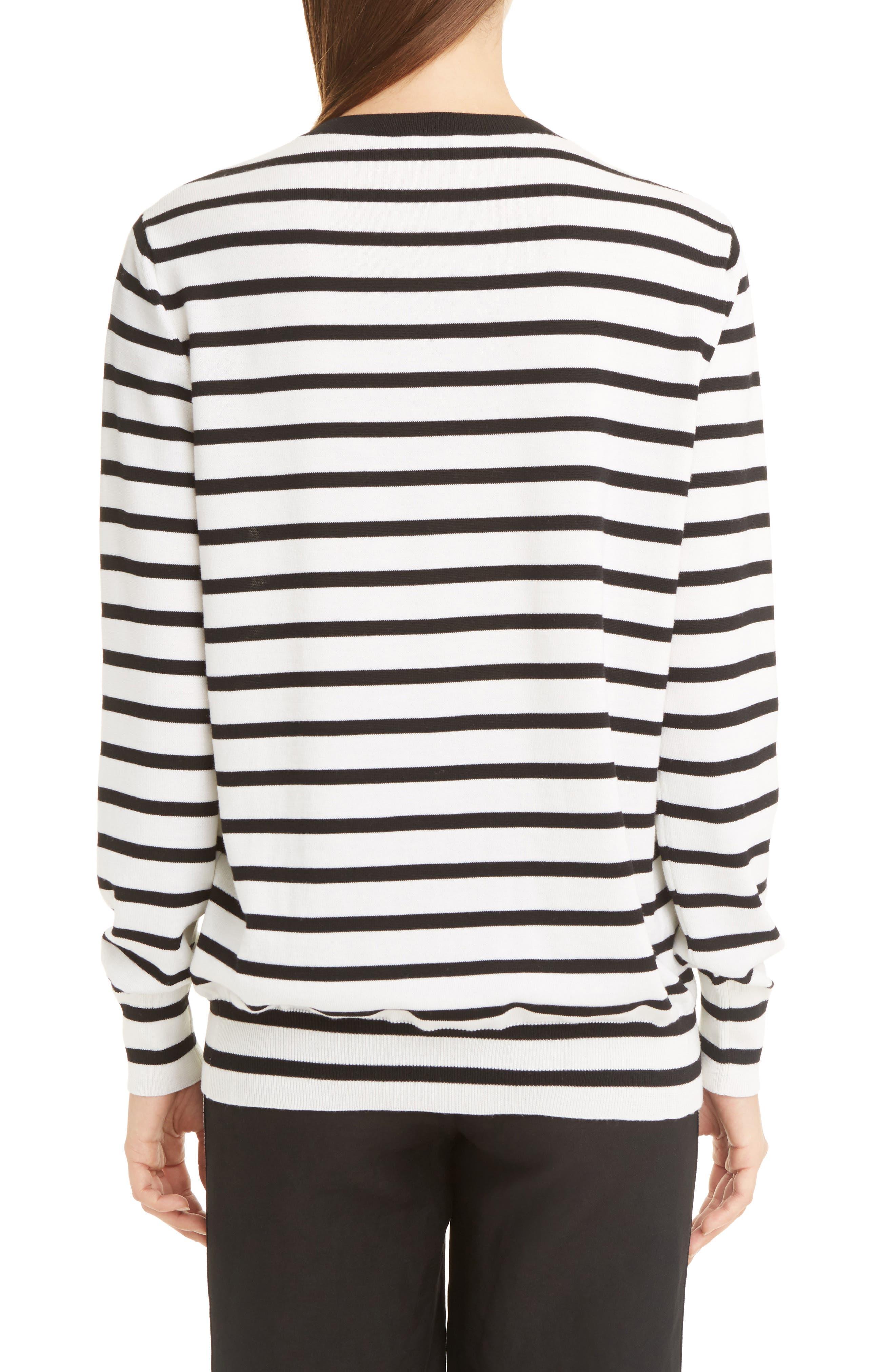 Alternate Image 2  - Loewe Cat Stripe Wool Blend Sweater