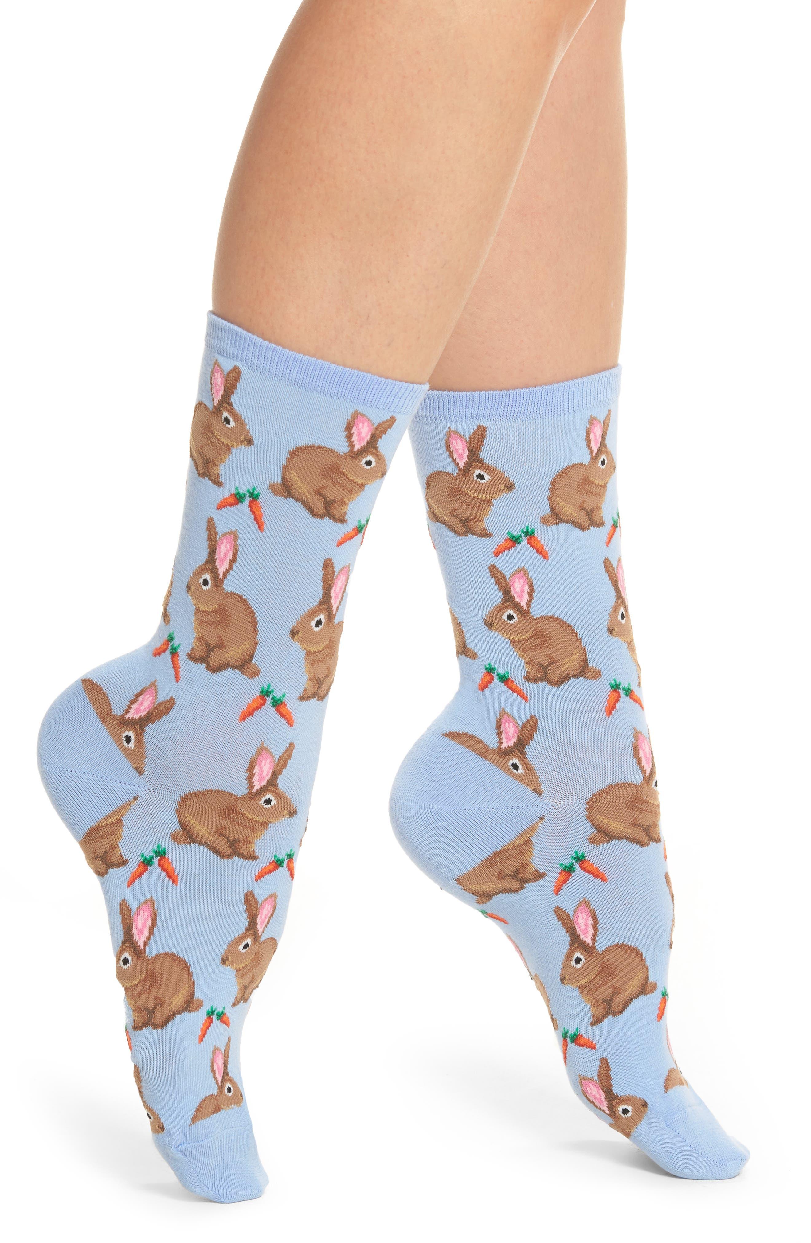 Main Image - Hot Sox Bunnies Crew Socks
