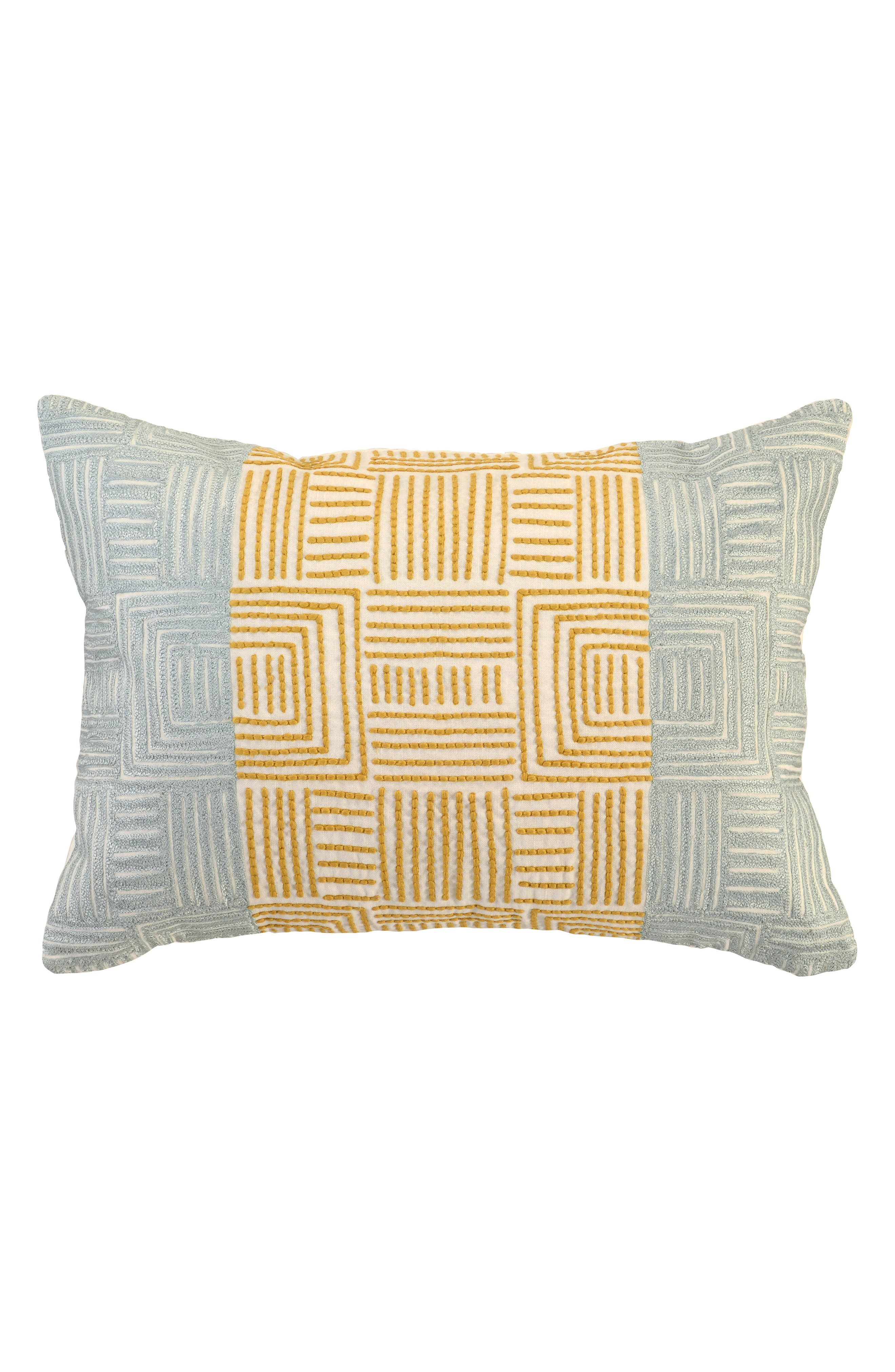 Dixon Ocre Tidal Accent Pillow,                         Main,                         color, Seaglass/ Yellow