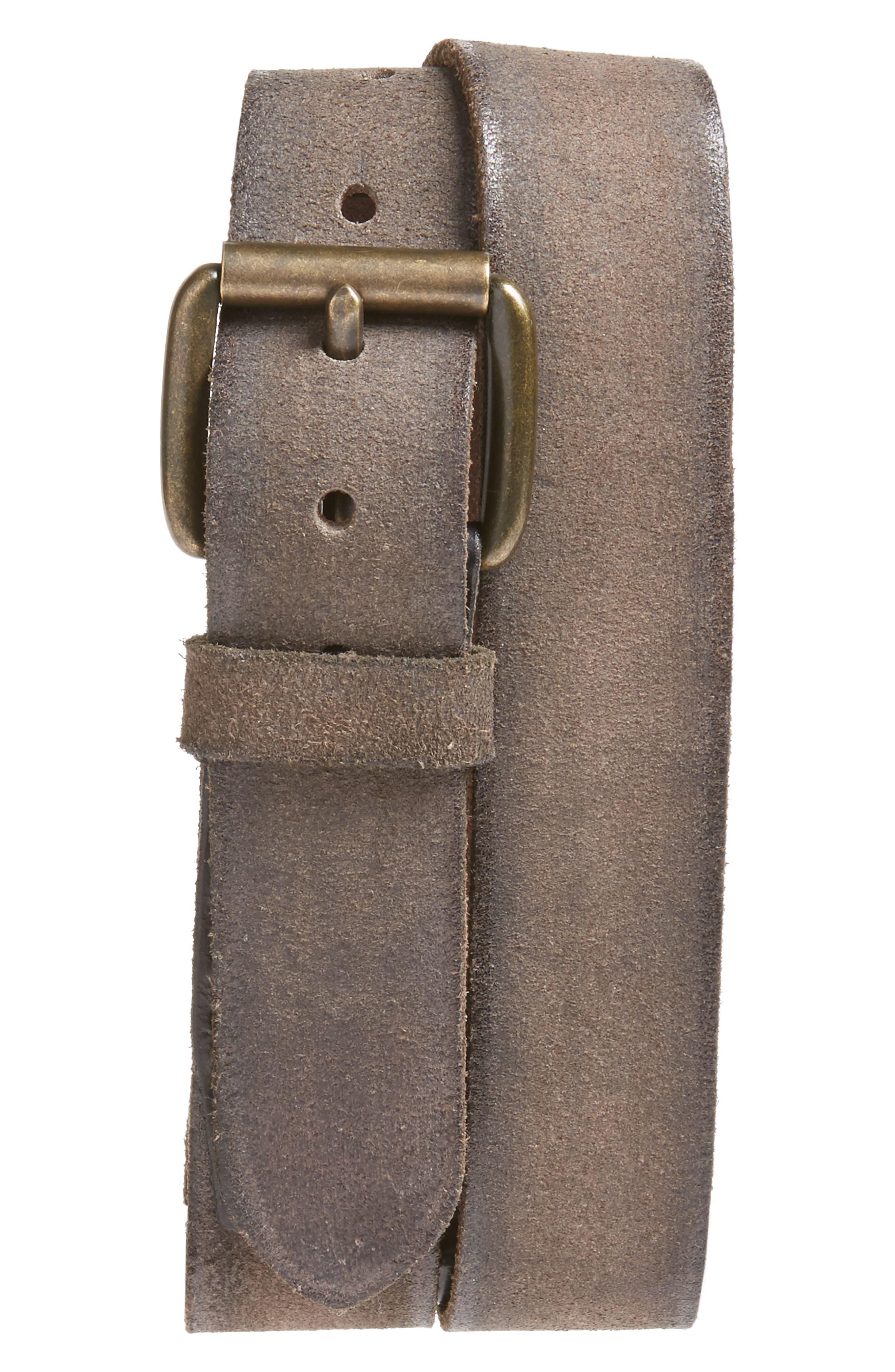 Suede Belt,                             Main thumbnail 1, color,                             Grey