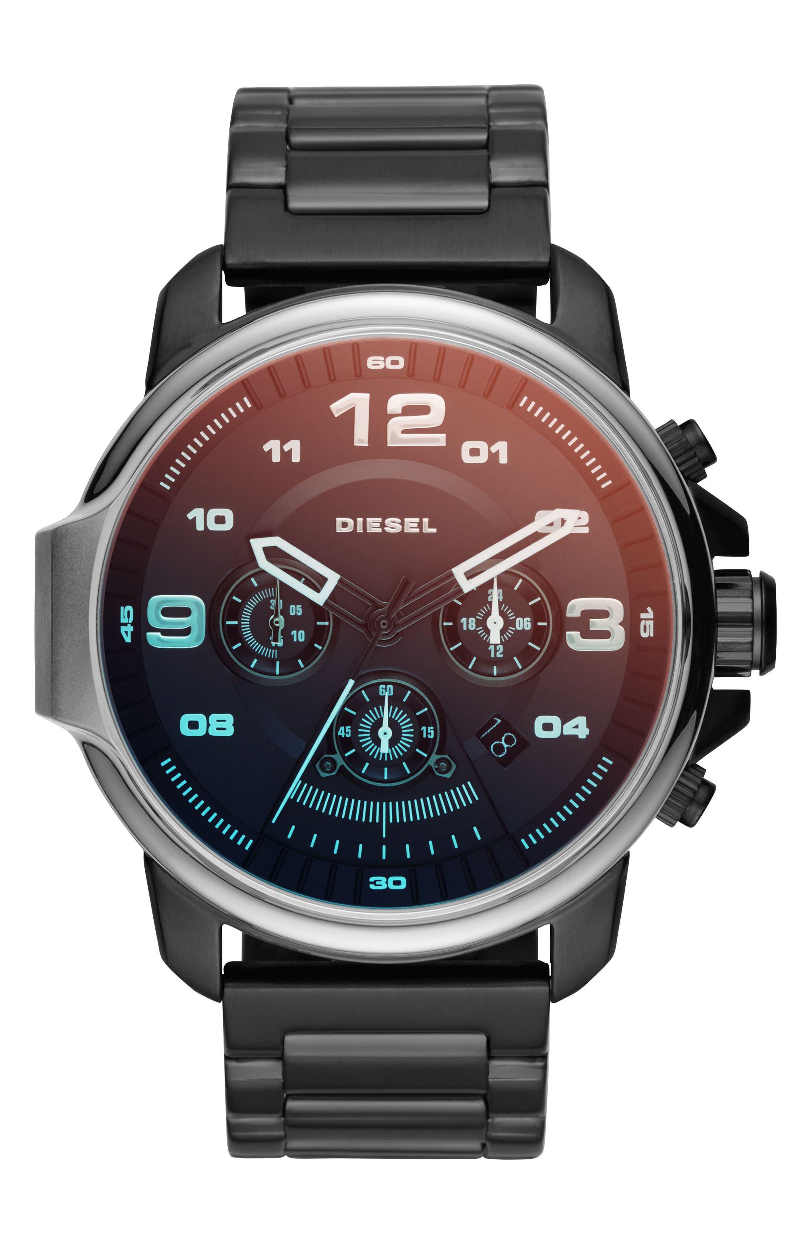 DIESEL<SUP>®</SUP> Whiplash Chronograph Bracelet Watch, 50mm